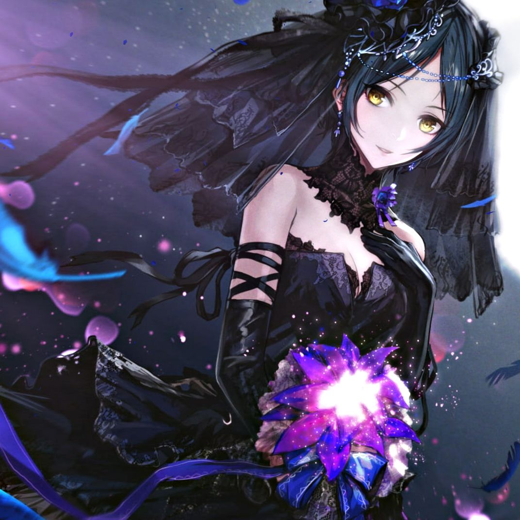 Black Hair Anime Girl Wallpapers - Wallpaper Cave
