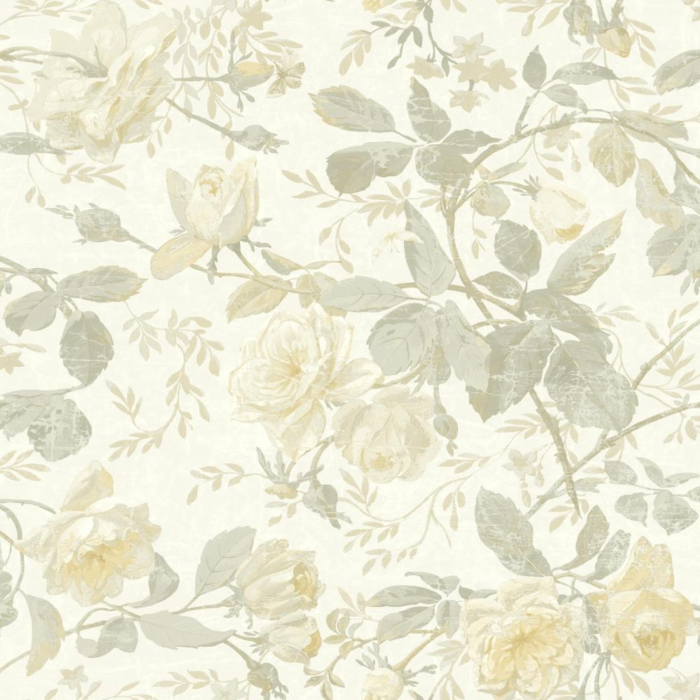 Light Cream Yellow Floral Vintage Wallpapers Wallpaper Cave