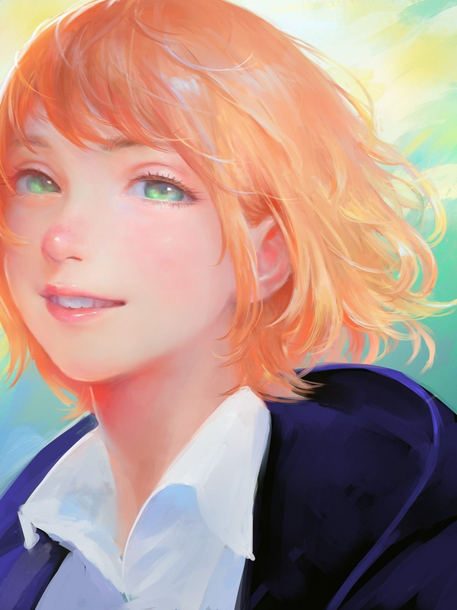 realistic anime girl short hair wallpapers  wallpaper cave