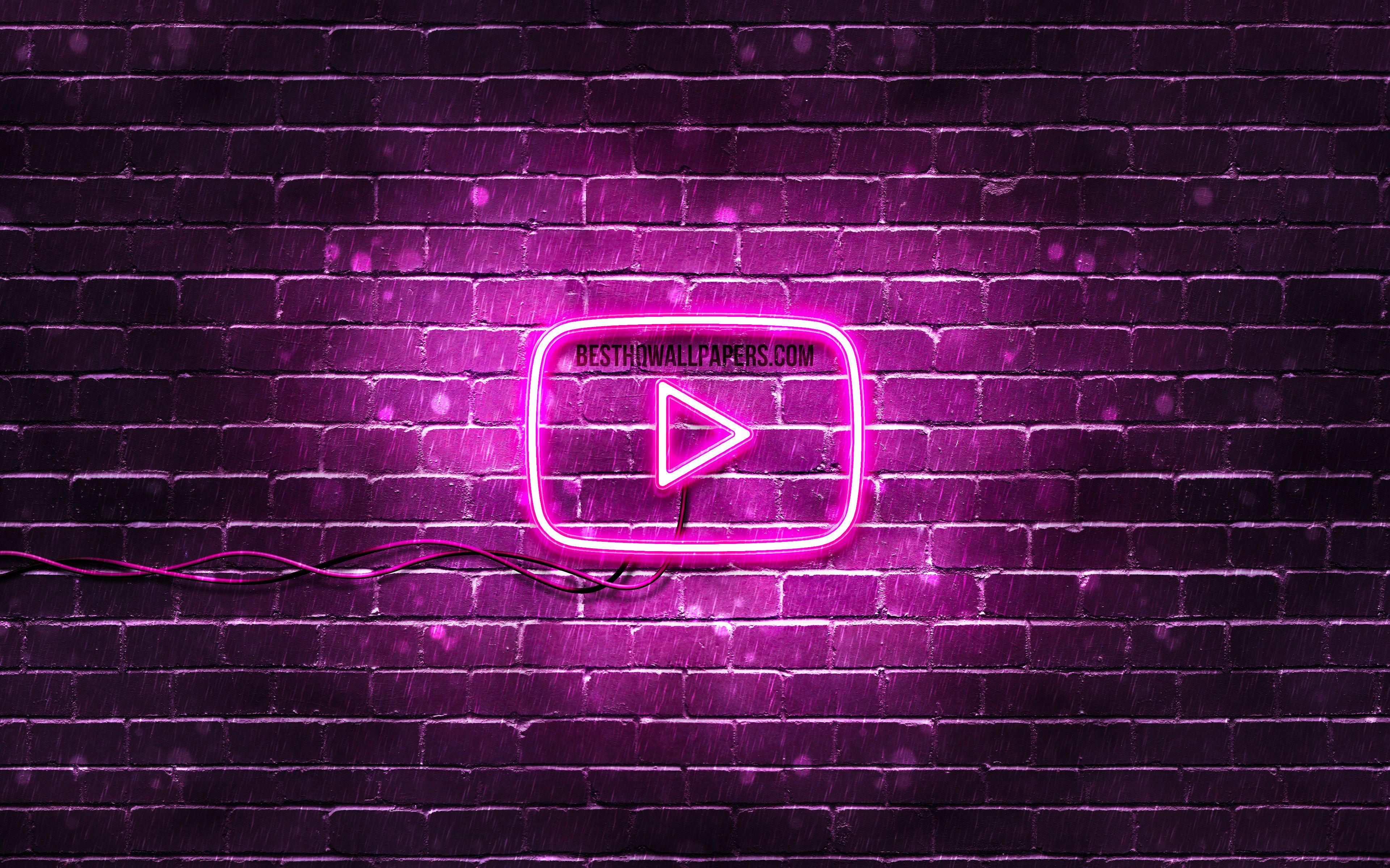 Neon Purple Logo Wallpapers Wallpaper Cave