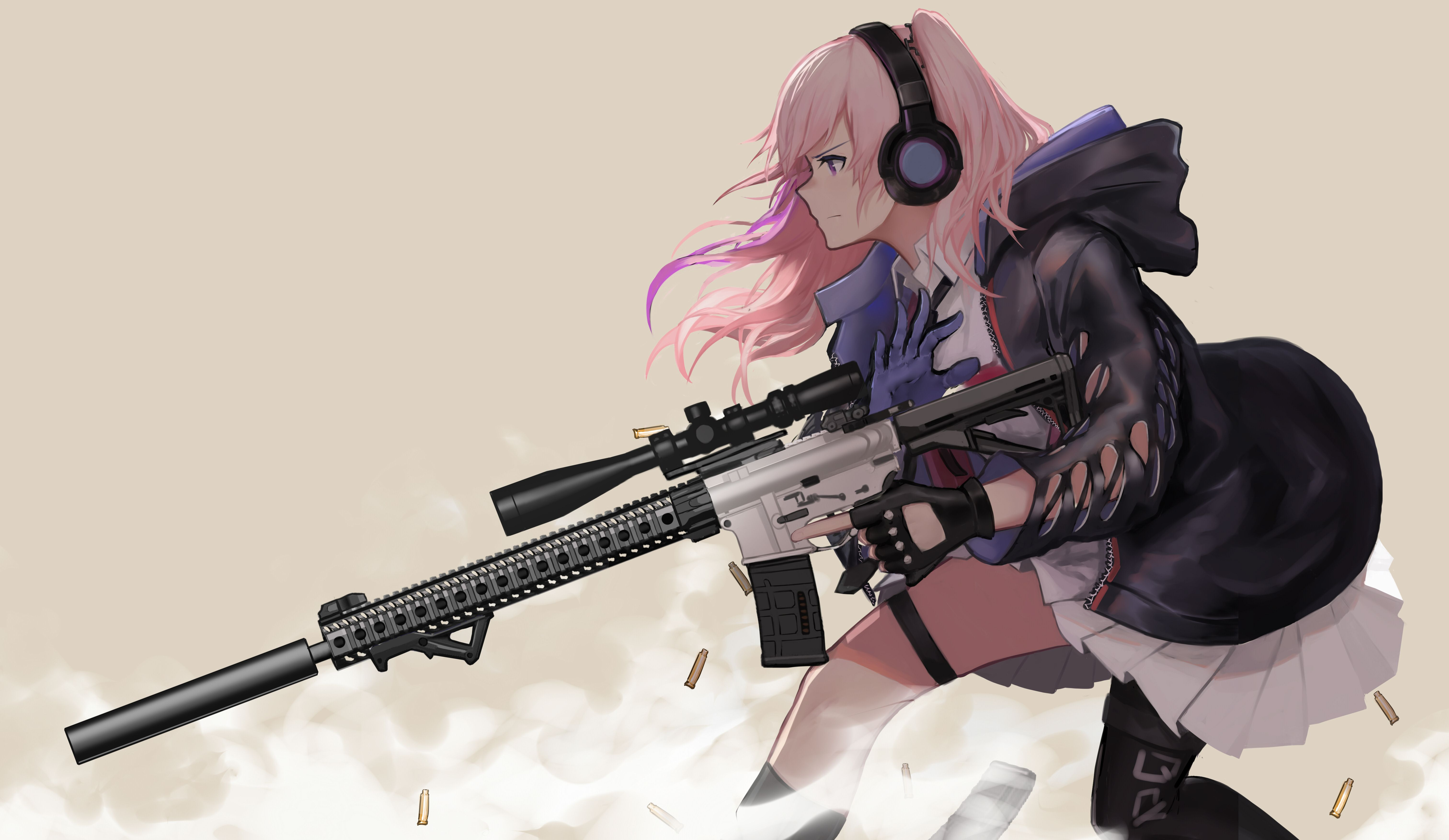 10k Anime Girl Ps10 Gun Wallpapers - Wallpaper Cave