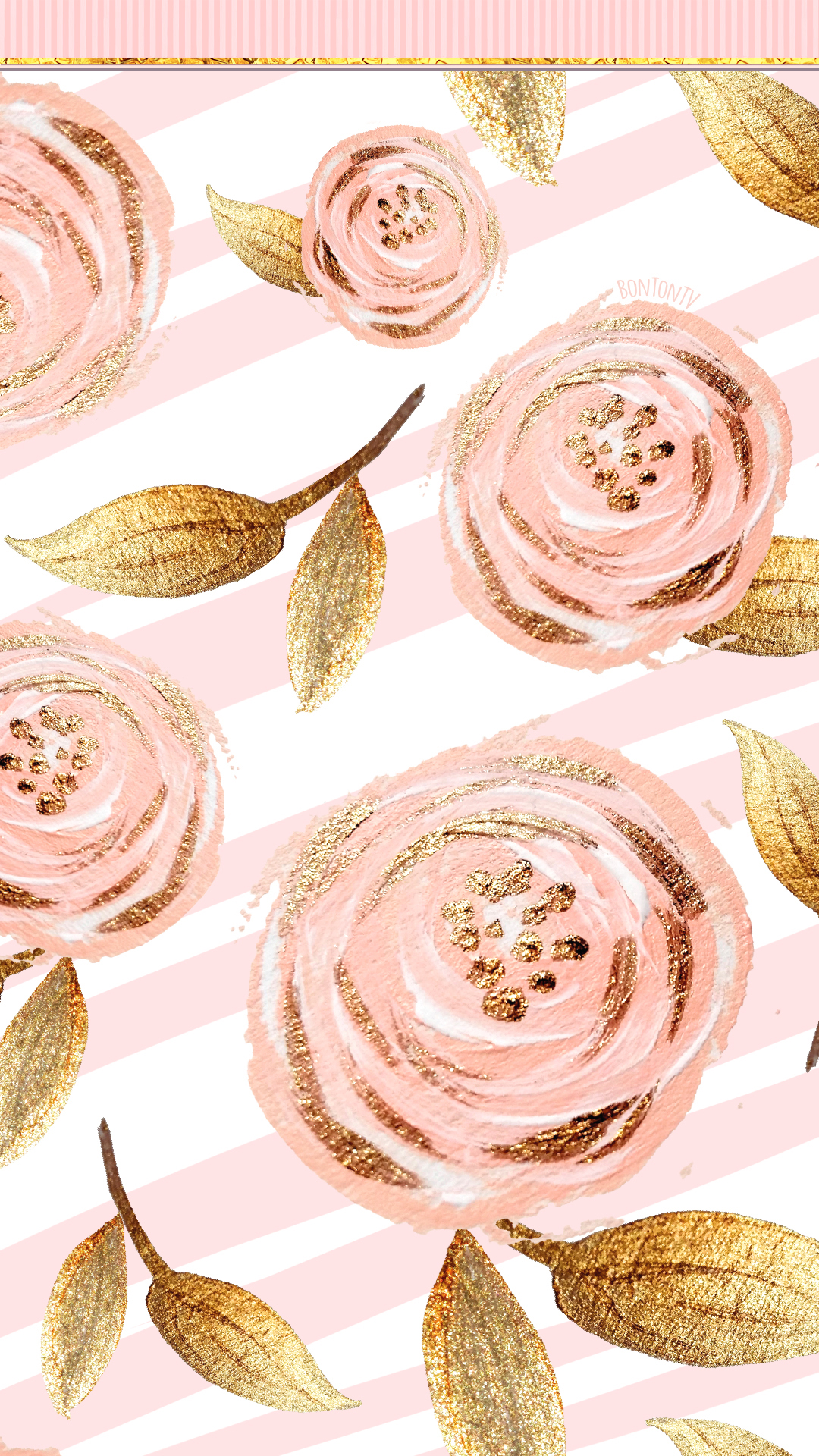 Gold Roses Cartoon Wallpapers - Wallpaper Cave