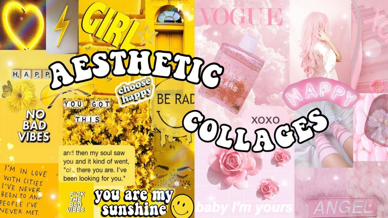 girly things collage aesthetic desktop wallpapers