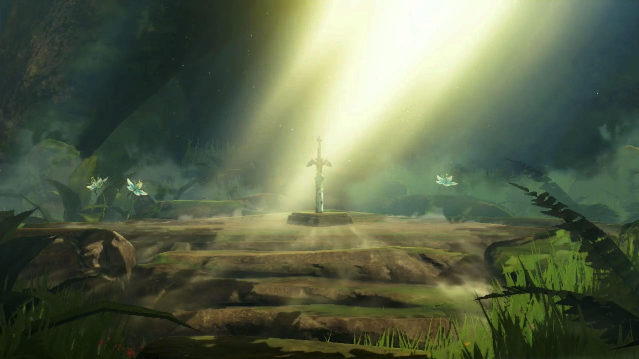Zelda Breath Of The Wild Master Sword Desktop Wallpapers ...