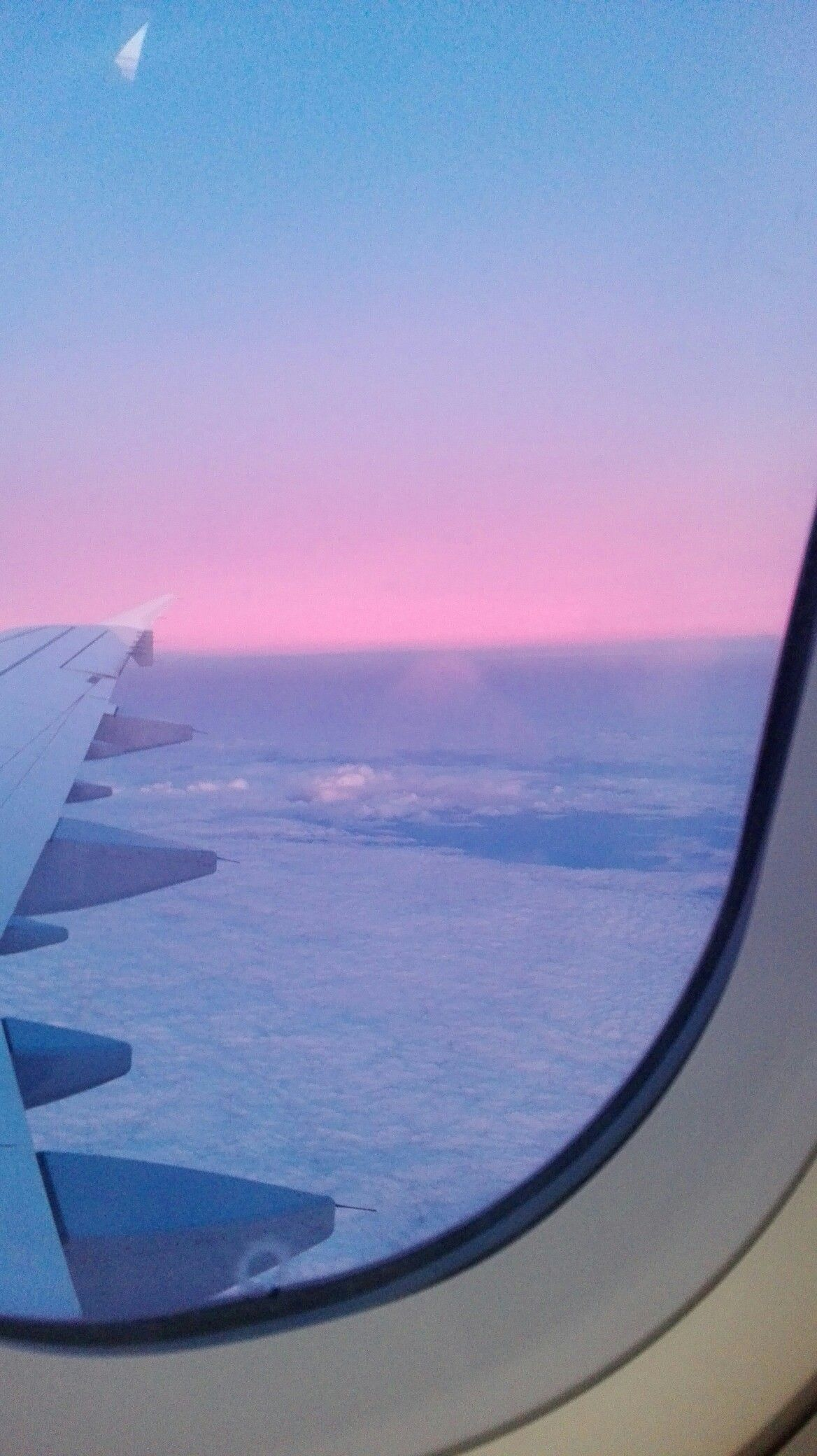sunset airplane window aesthetic