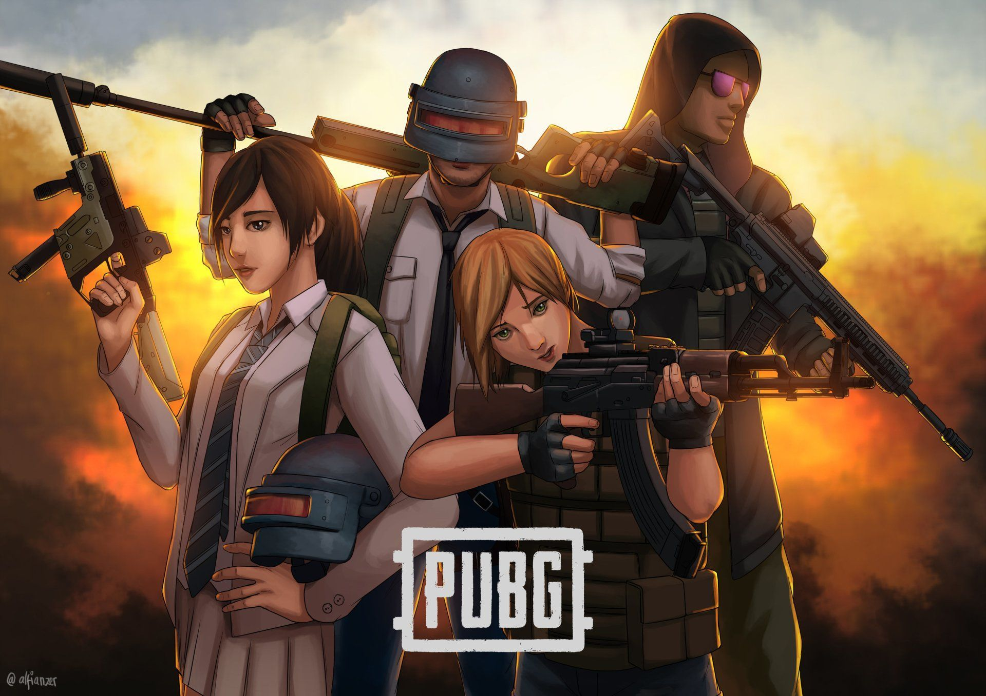 Anime PUBG HD Wallpapers - Wallpaper Cave