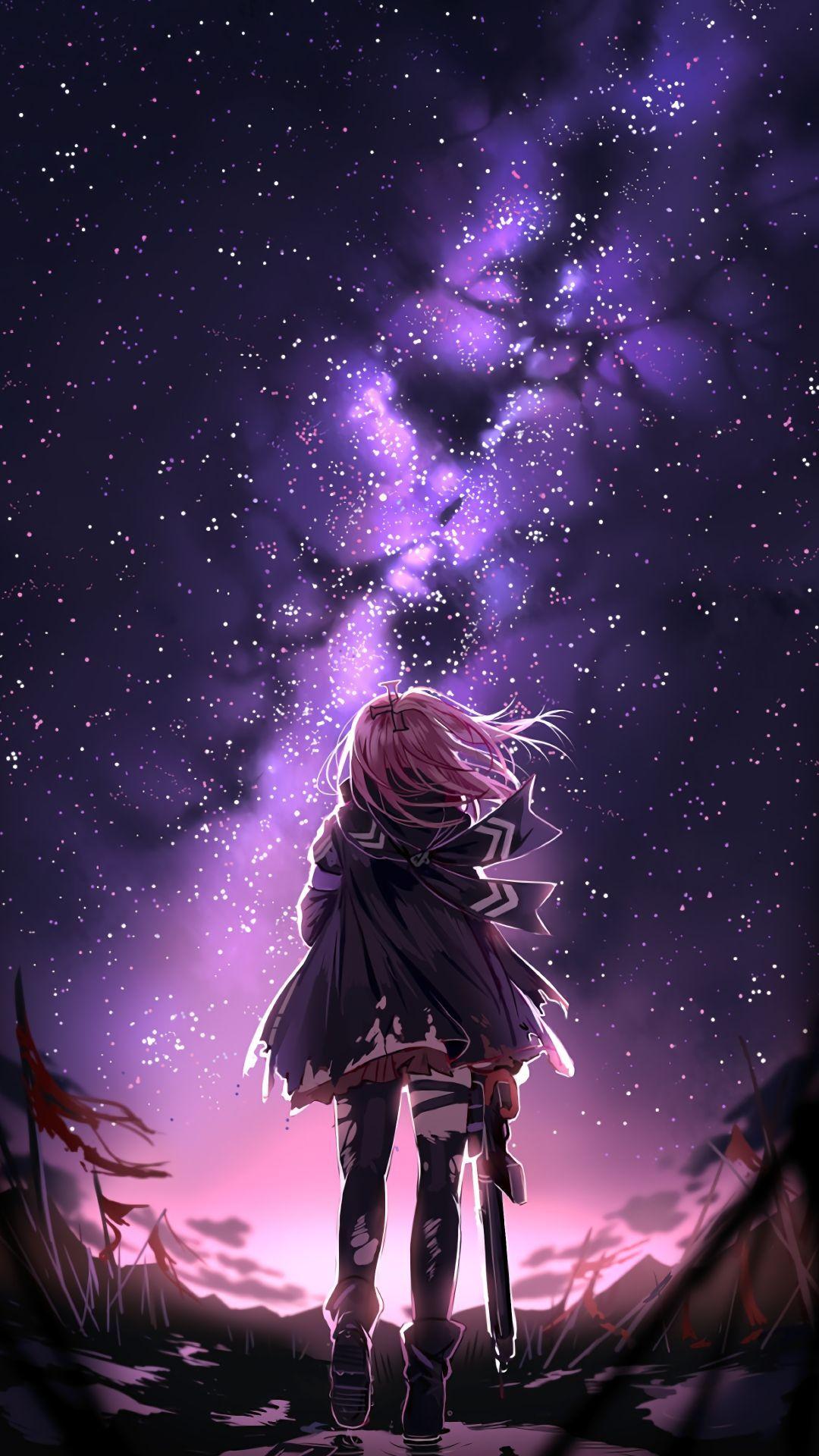 Kawaii Anime Hd Galaxy Wallpapers Wallpaper Cave