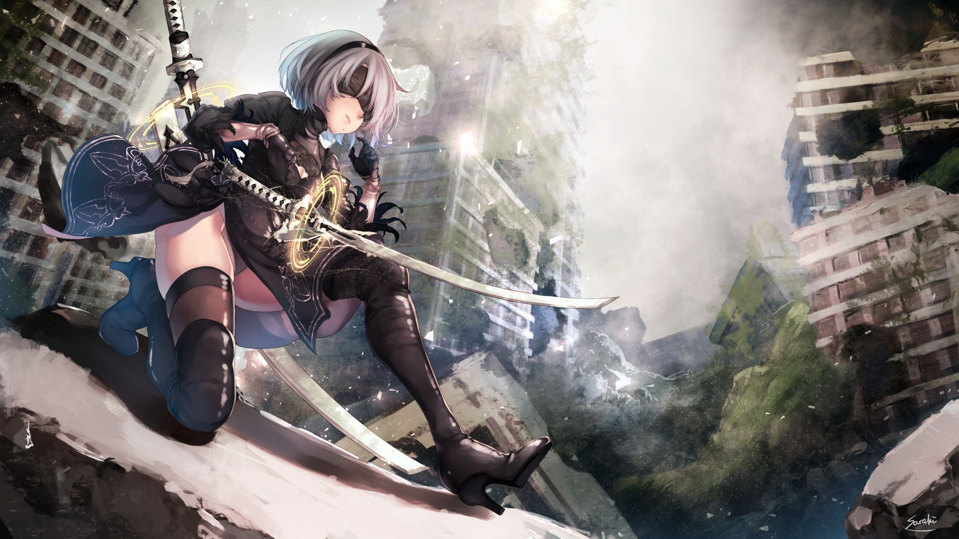 Nier Automata Backgrounds 1920x1080 posted by Christopher Simpson