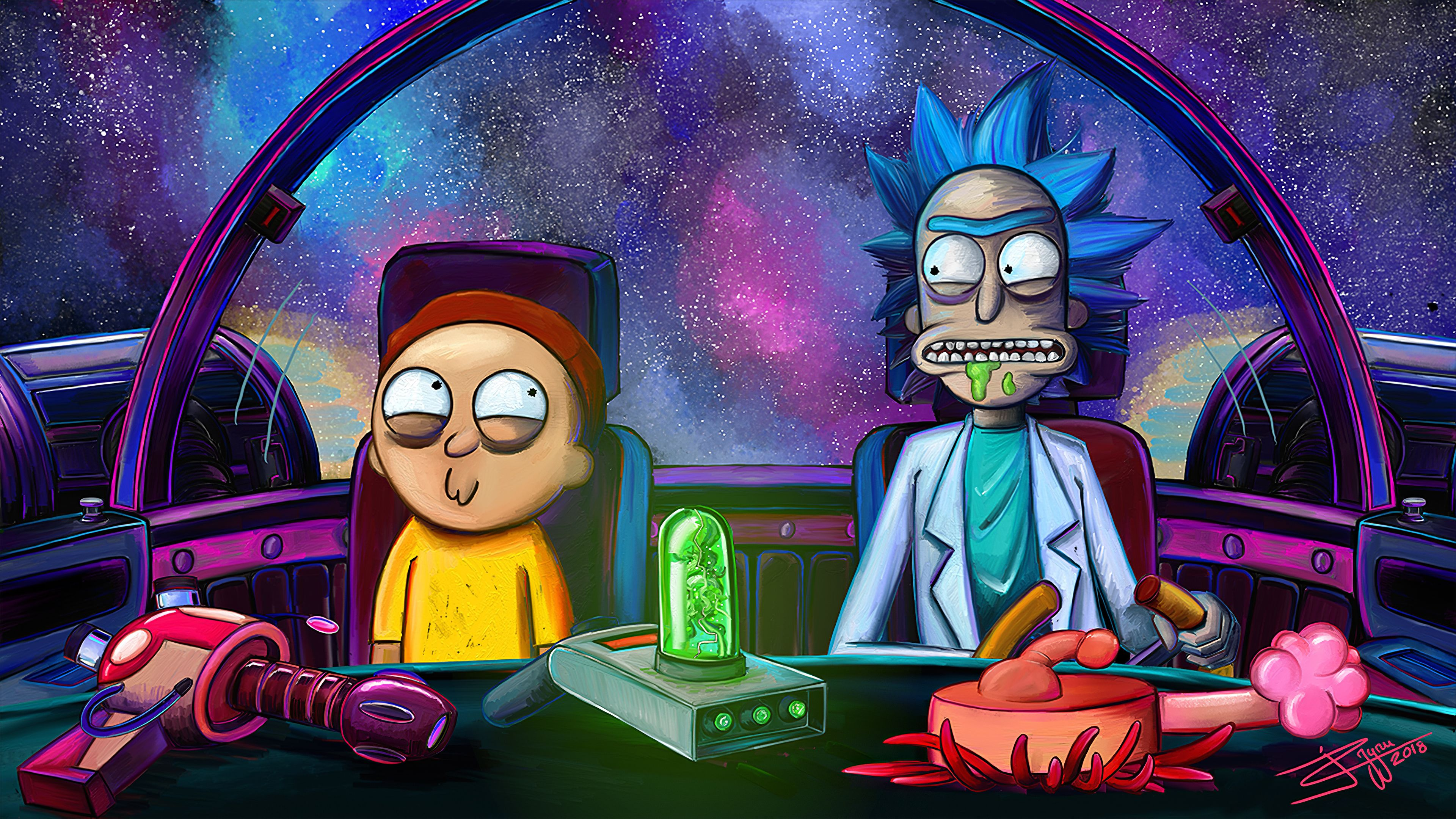 Rick And Morty Trippy Desktop Wallpapers - Wallpaper Cave