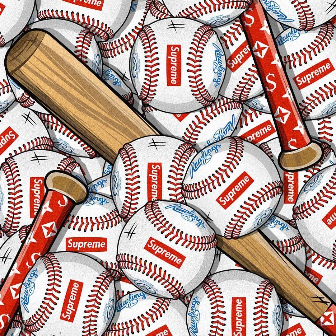 Supreme Baseball Wallpapers Wallpaper Cave