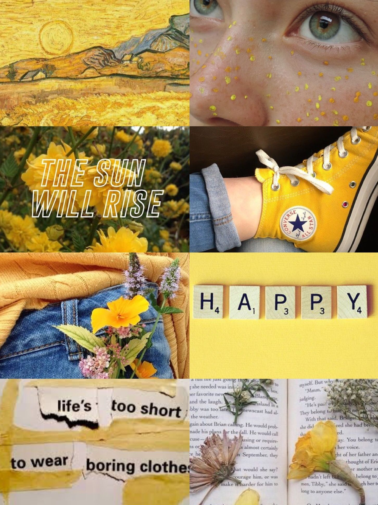 Yellow Aesthetic Collage Wallpapers - Wallpaper Cave