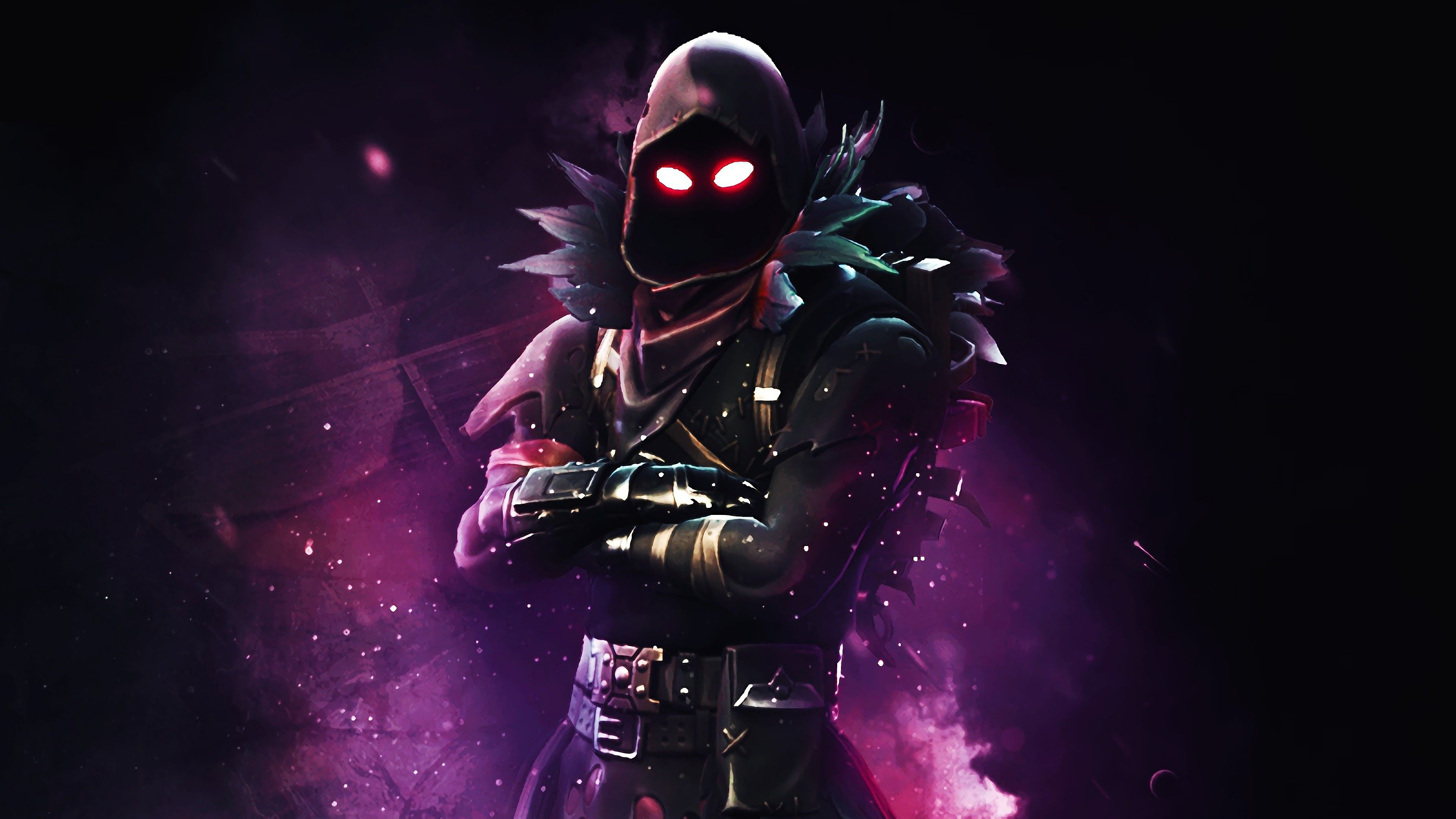 Raven Fortnite Battle Royale 4K Background, HD Games 4K Wallpapers