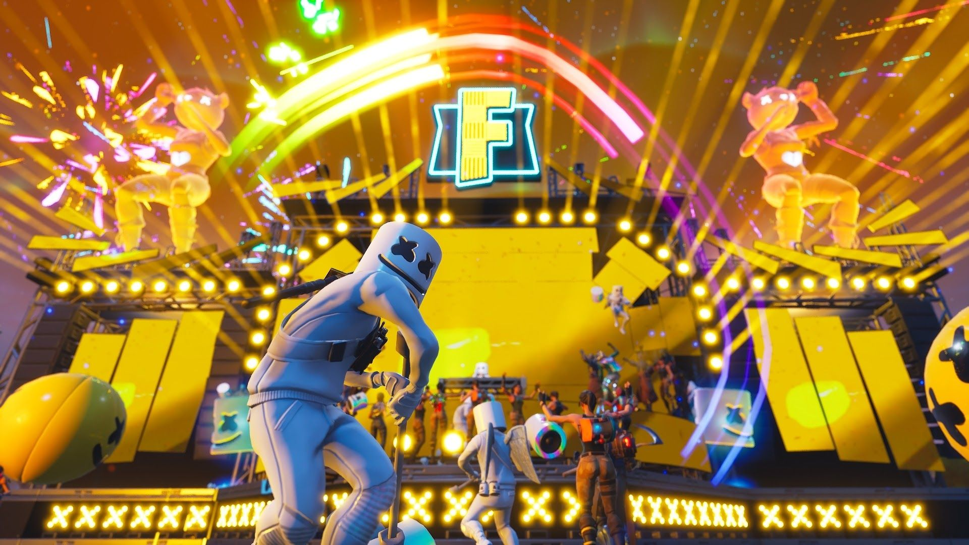 Marshmello, Fortnite Battle Royale, 4k,