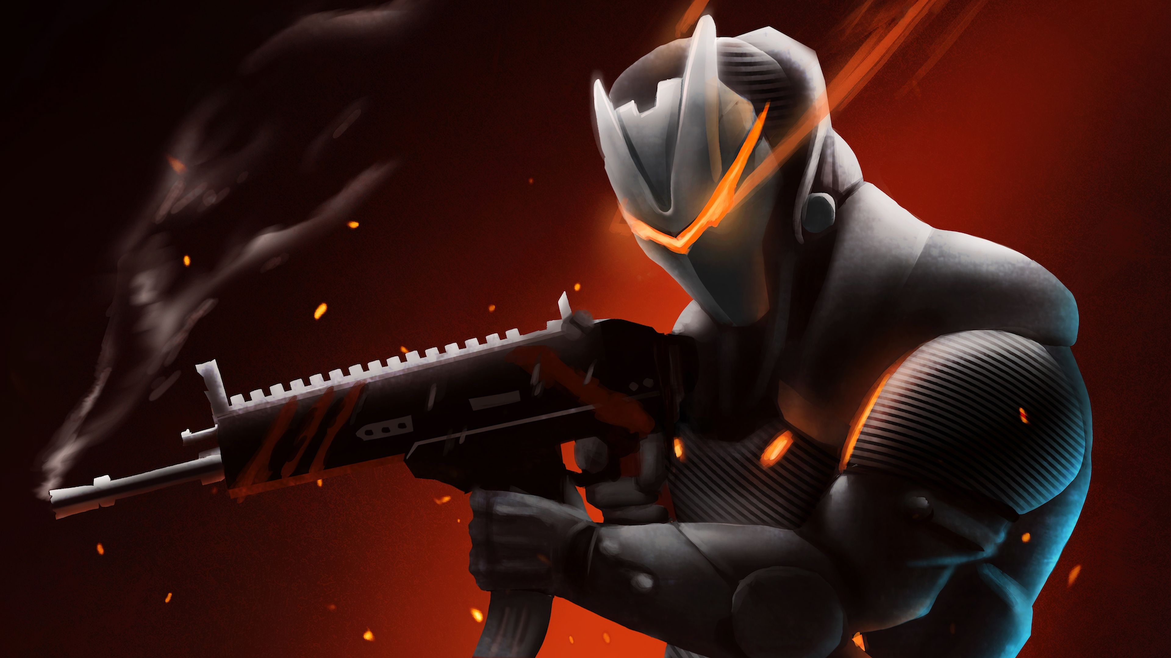 Wallpapers 4k Omega With Rifle Fortnite Battle Royale 2018 games