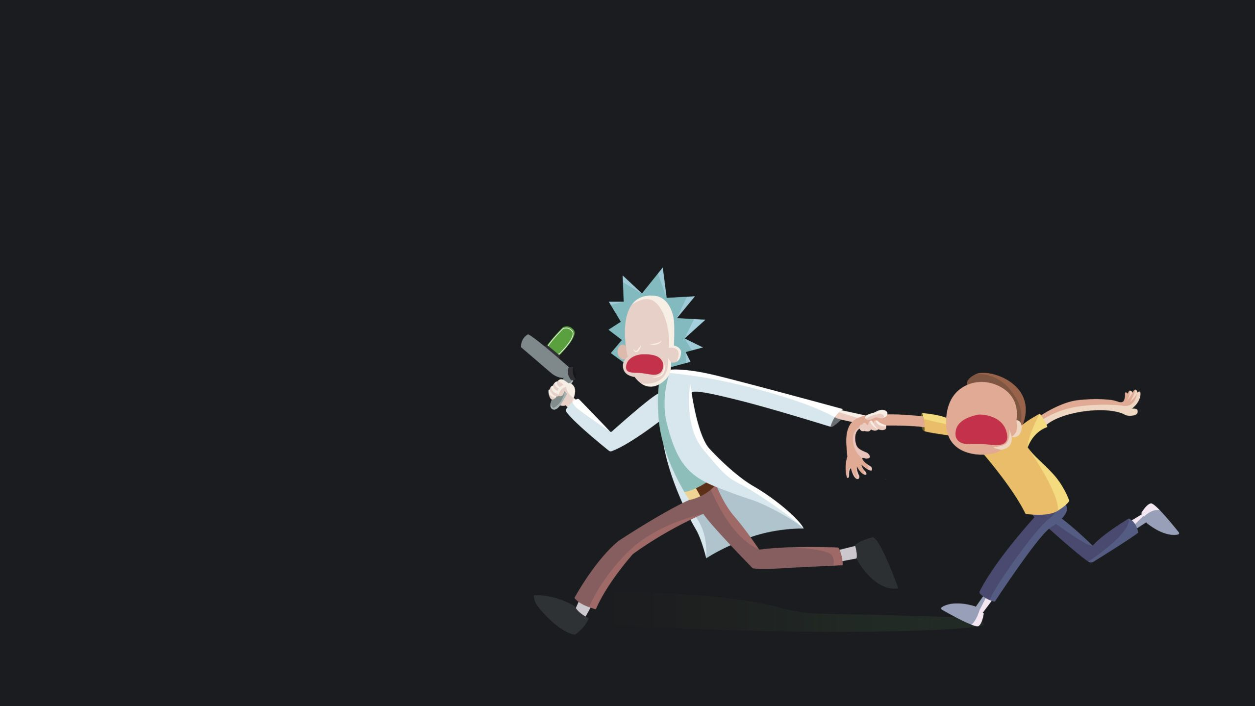Coolest Pc Minimalist Rick And Morty Wallpapers Wallpaper Cave