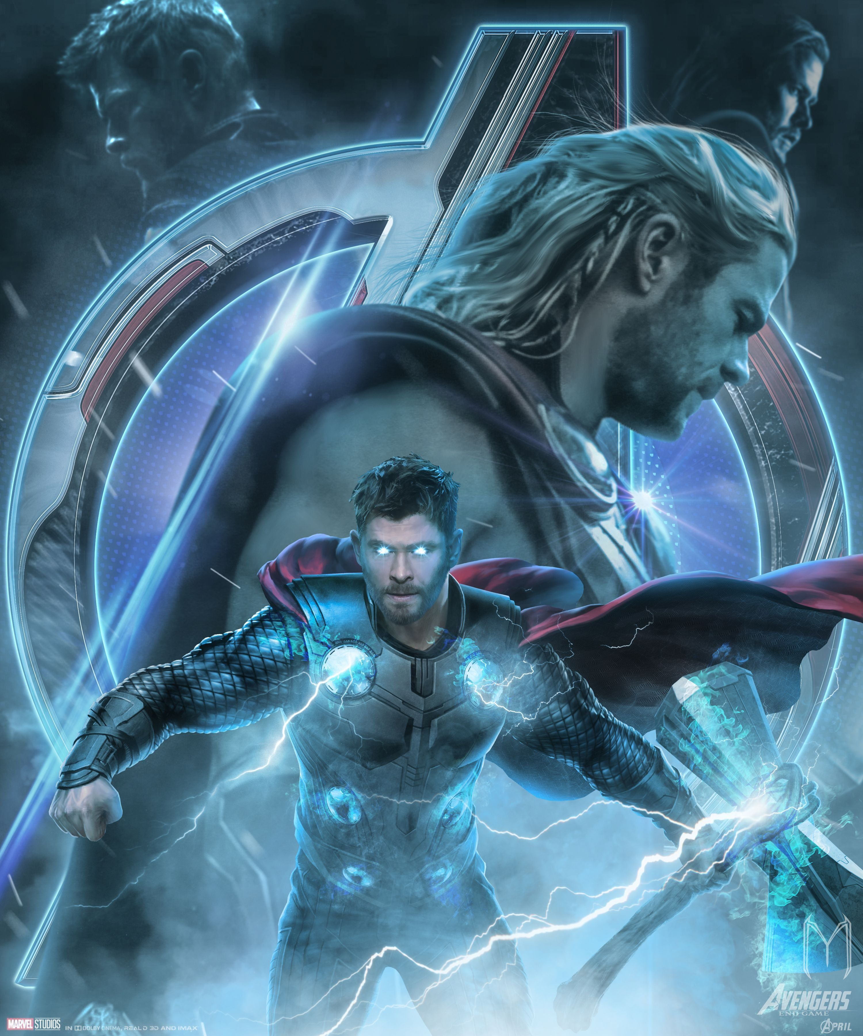 Thor In Avengers Endgame Wallpapers Wallpaper Cave