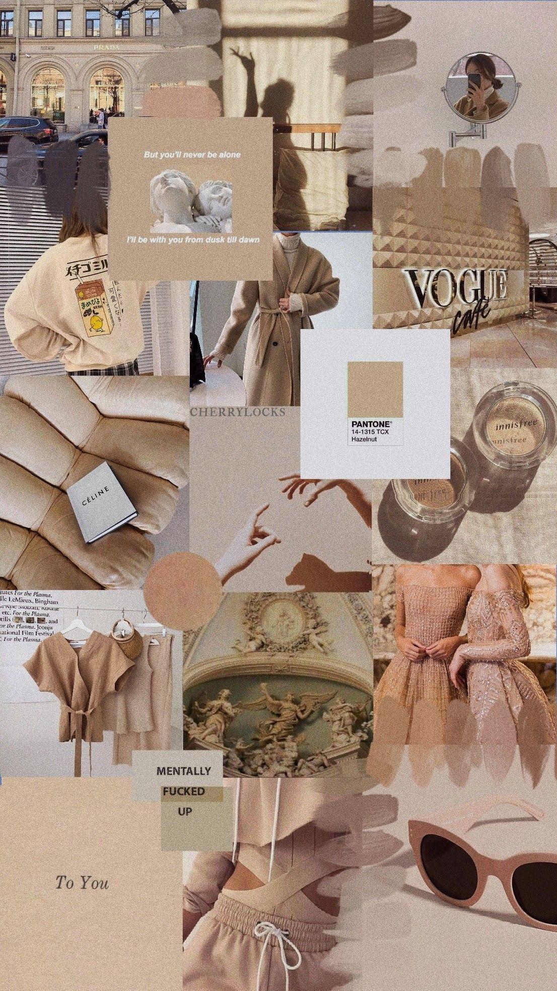 Beige Brown Aesthetic Wallpapers Wallpaper Cave