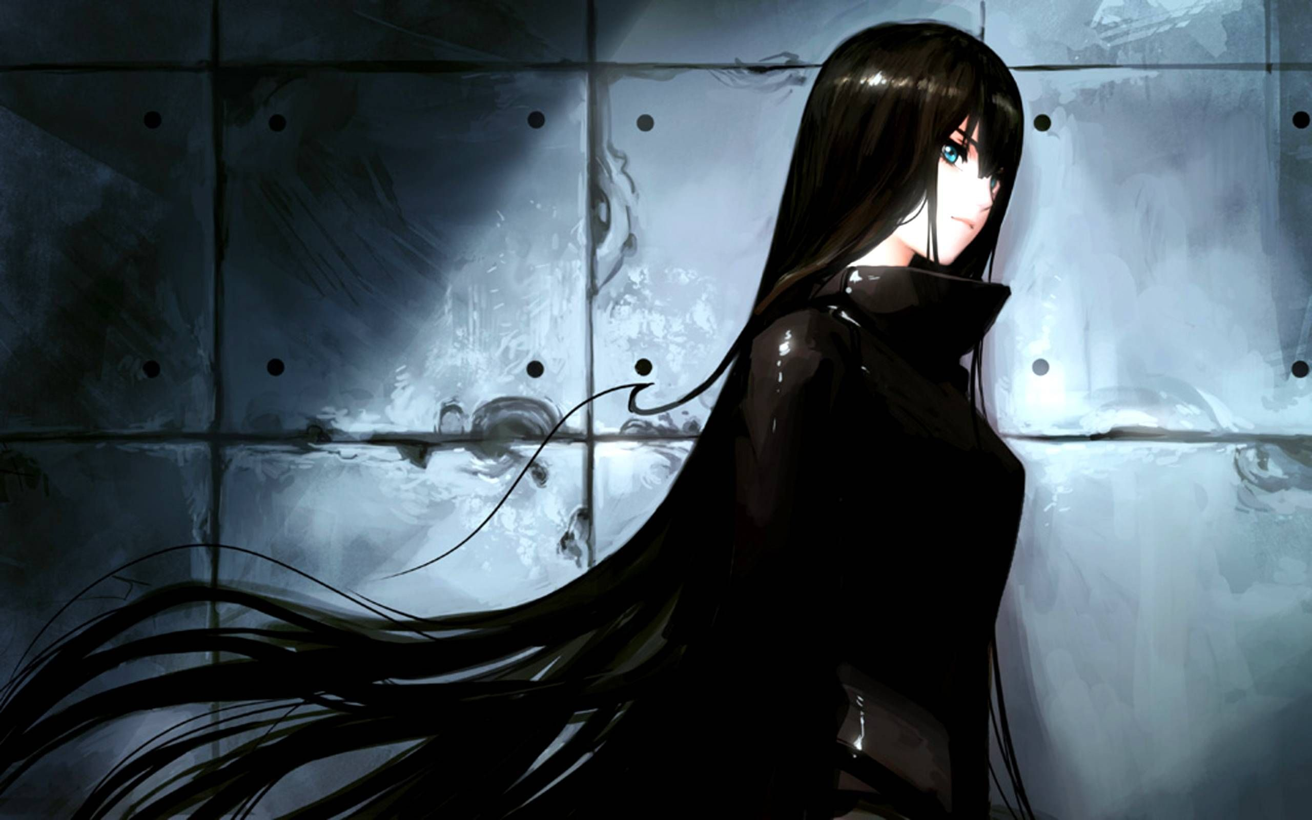 Anime With Long Black Hair Wallpapers Wallpaper Cave