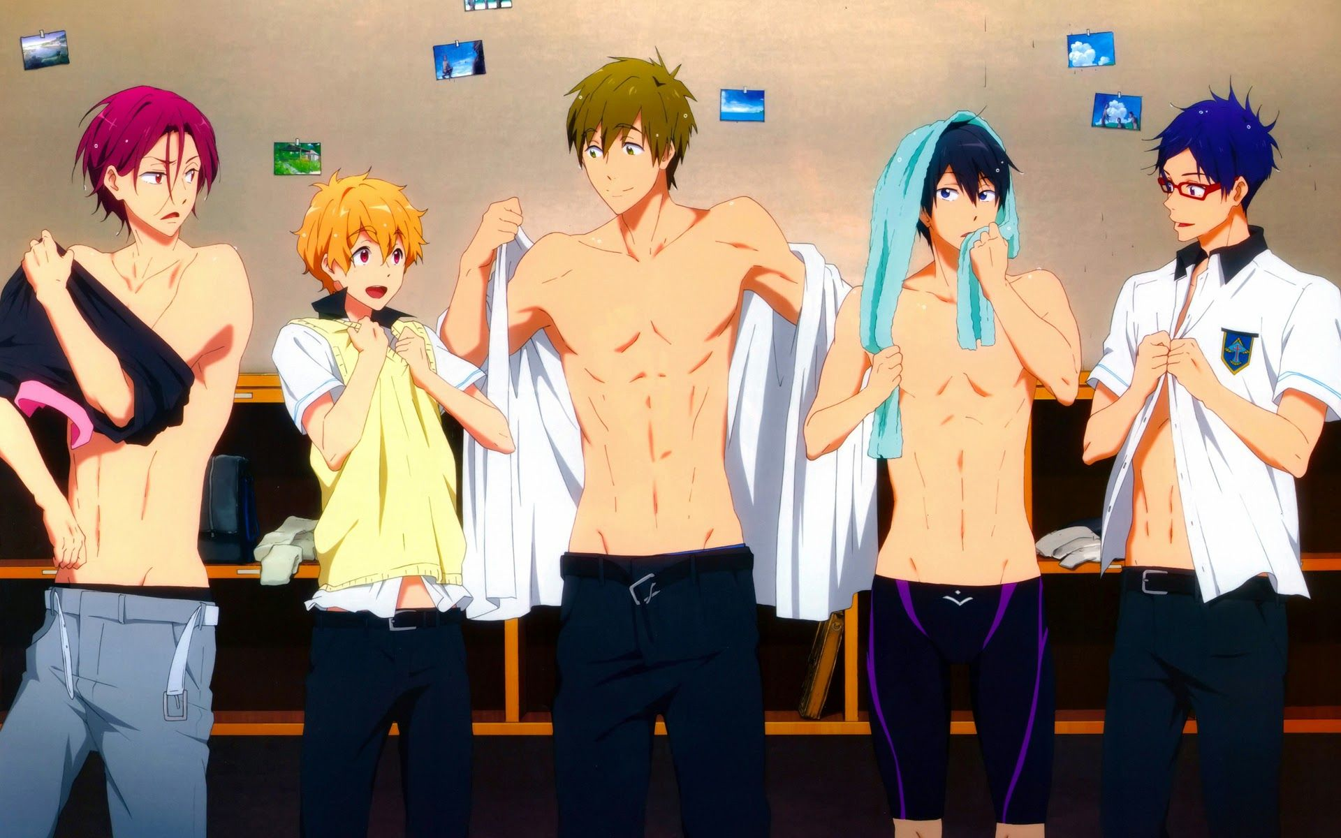 Anime boy sixpack