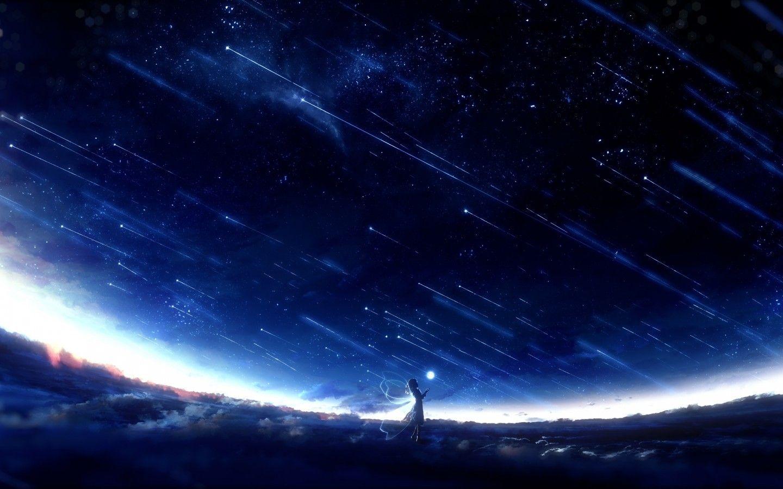 41 Badass Night Sky Anime Wallpaper Phone Background Anime Wallpapers