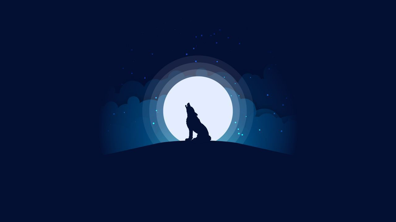 Minimal Wolf Wallpapers