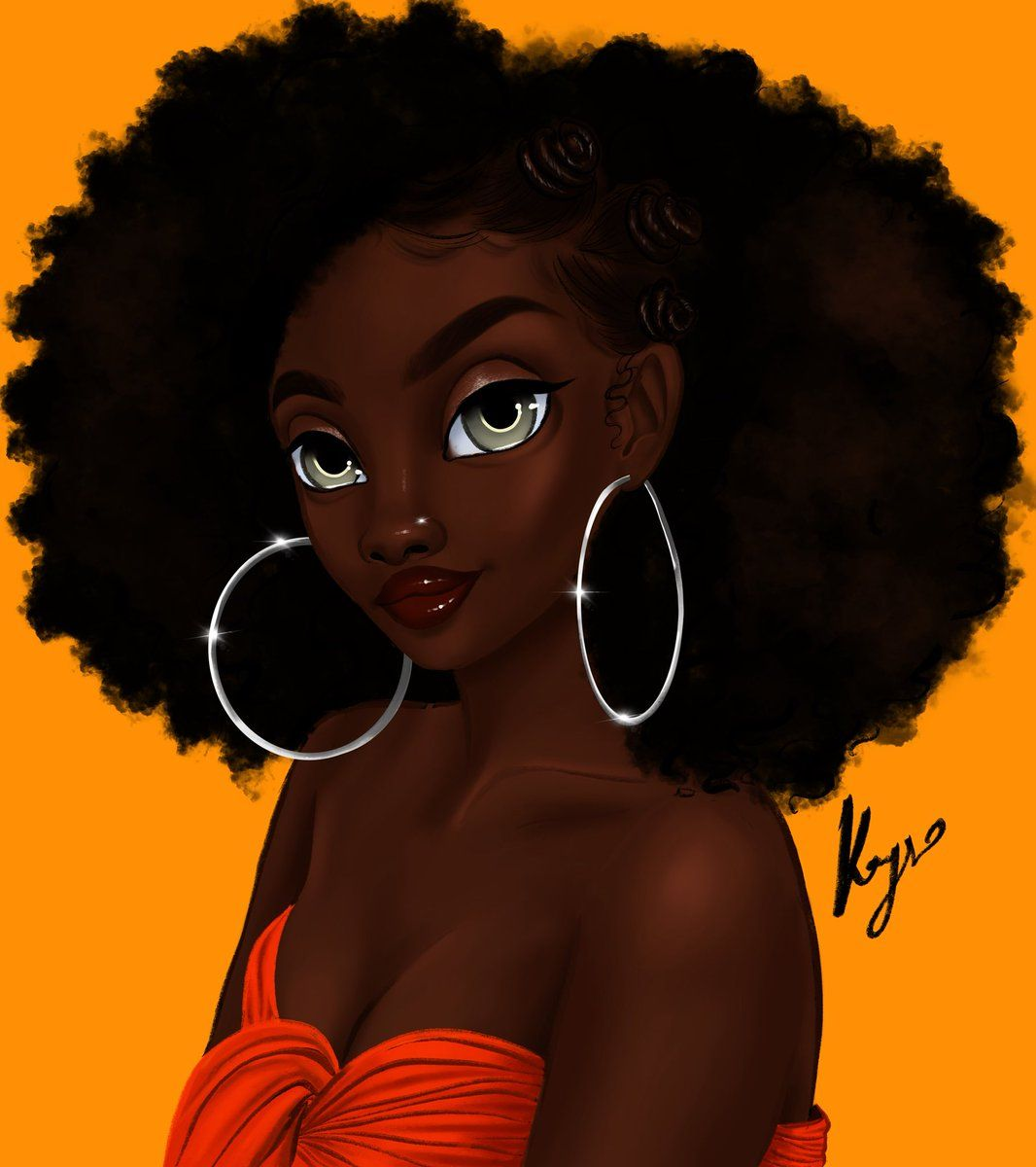 Cute Black Girls Cartoon Wallpapers - Wallpaper Cave