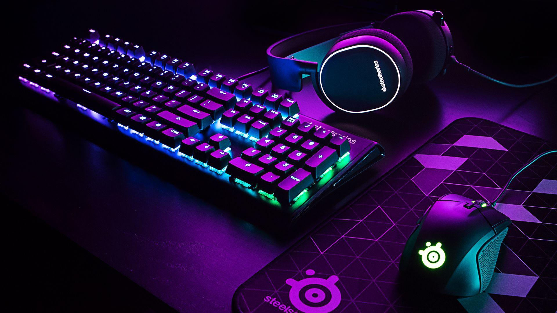 Purple Aesthetic Gaming Wallpapers Wallpaper Cave