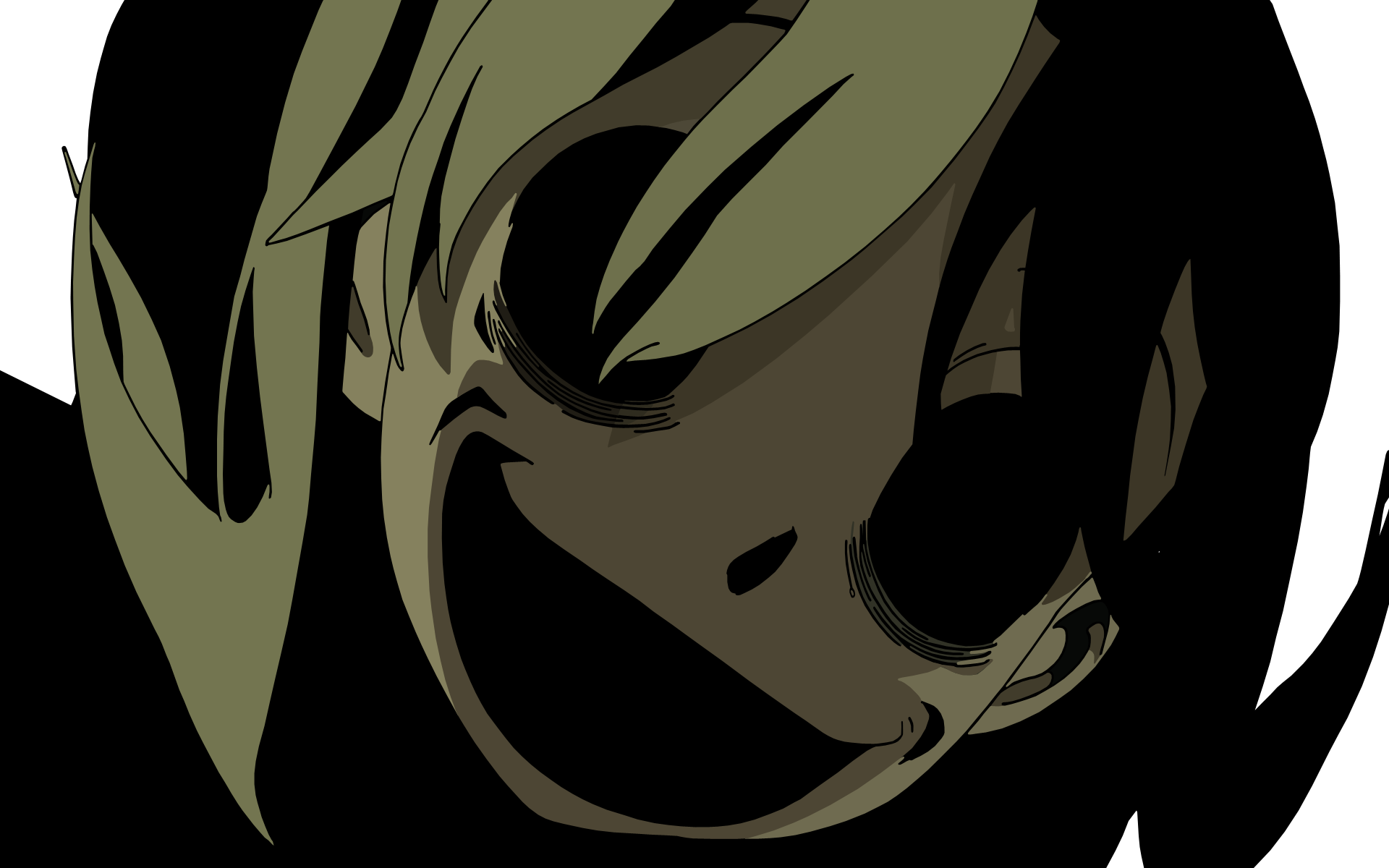 Black Scary Face Anime Wallpapers Wallpaper Cave