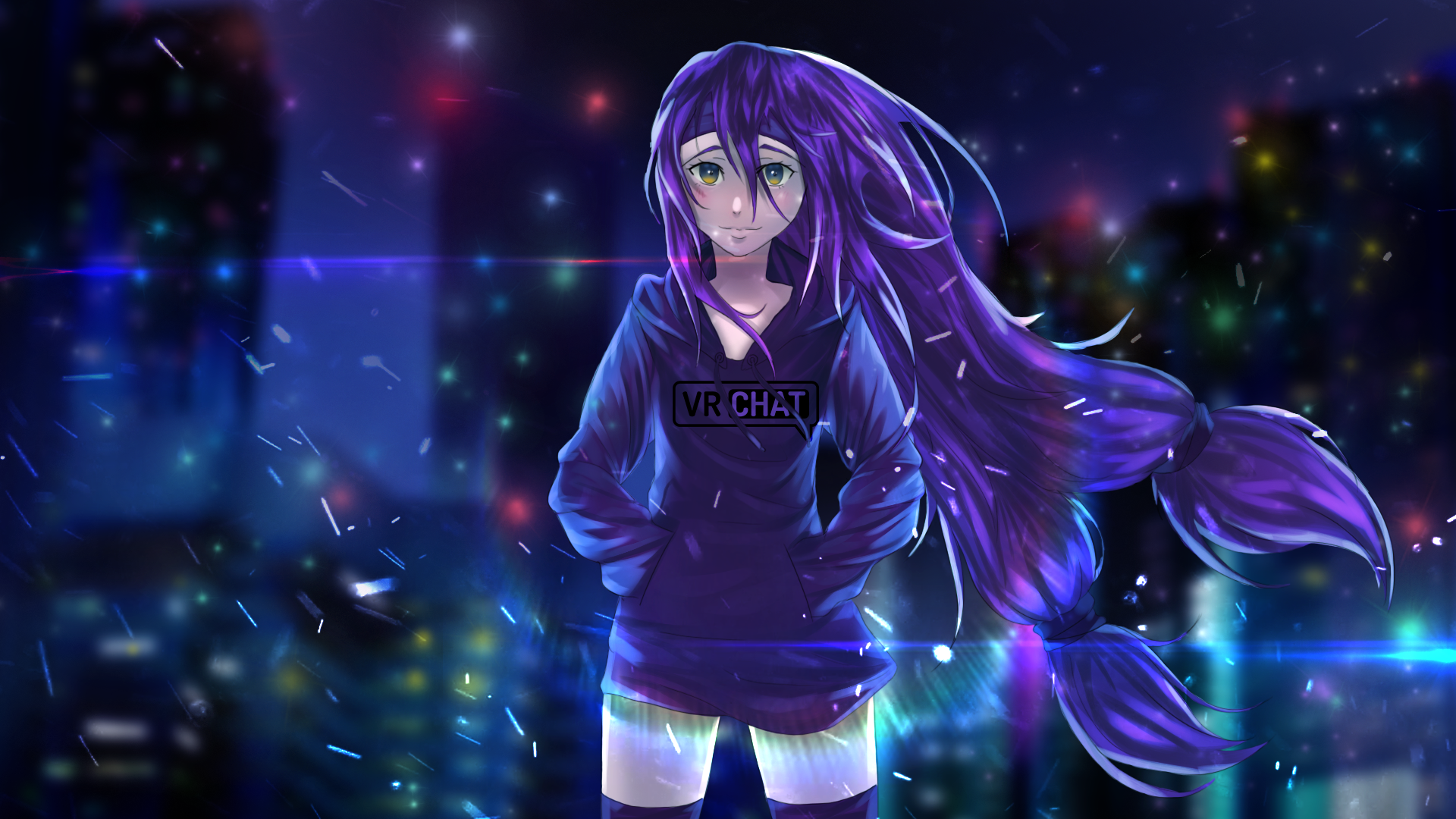 Blue And Purple Anime Wallpapers Wallpaper Cave