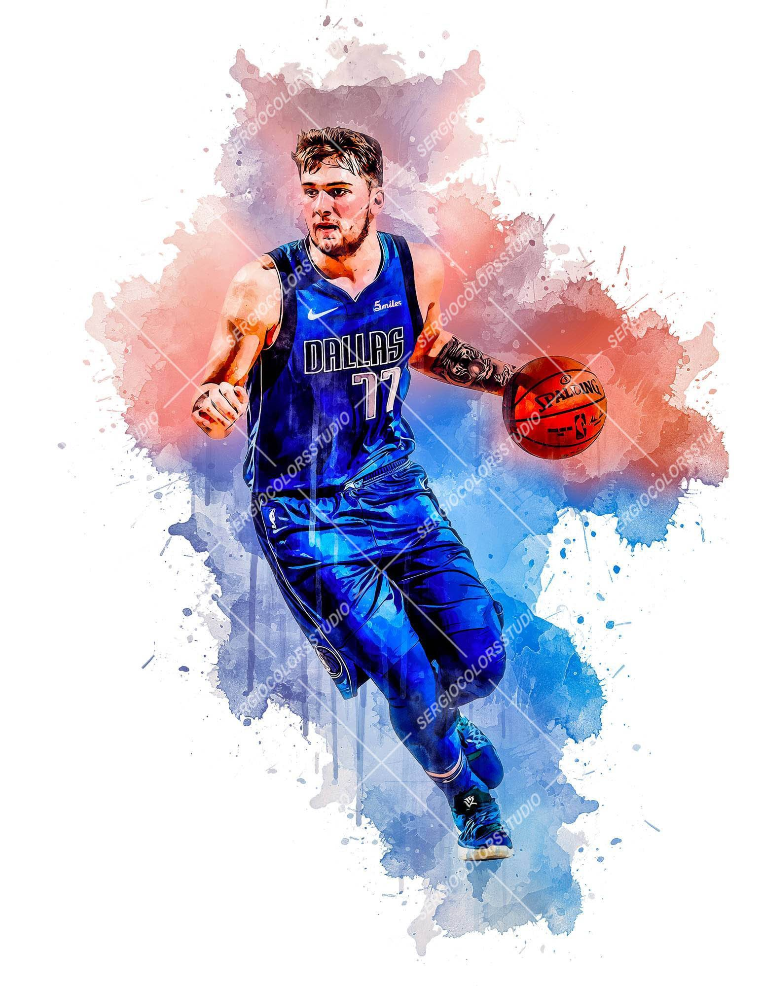 Cartoon Luka Doncic Wallpapers Wallpaper Cave