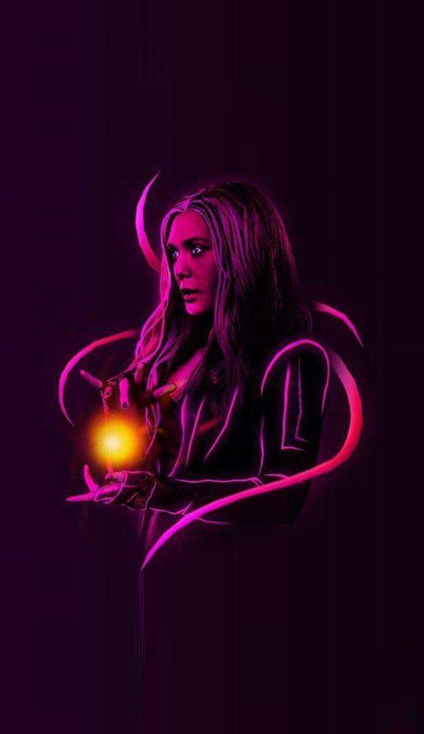 Scarlet Witch Neon Wallpapers Wallpaper Cave