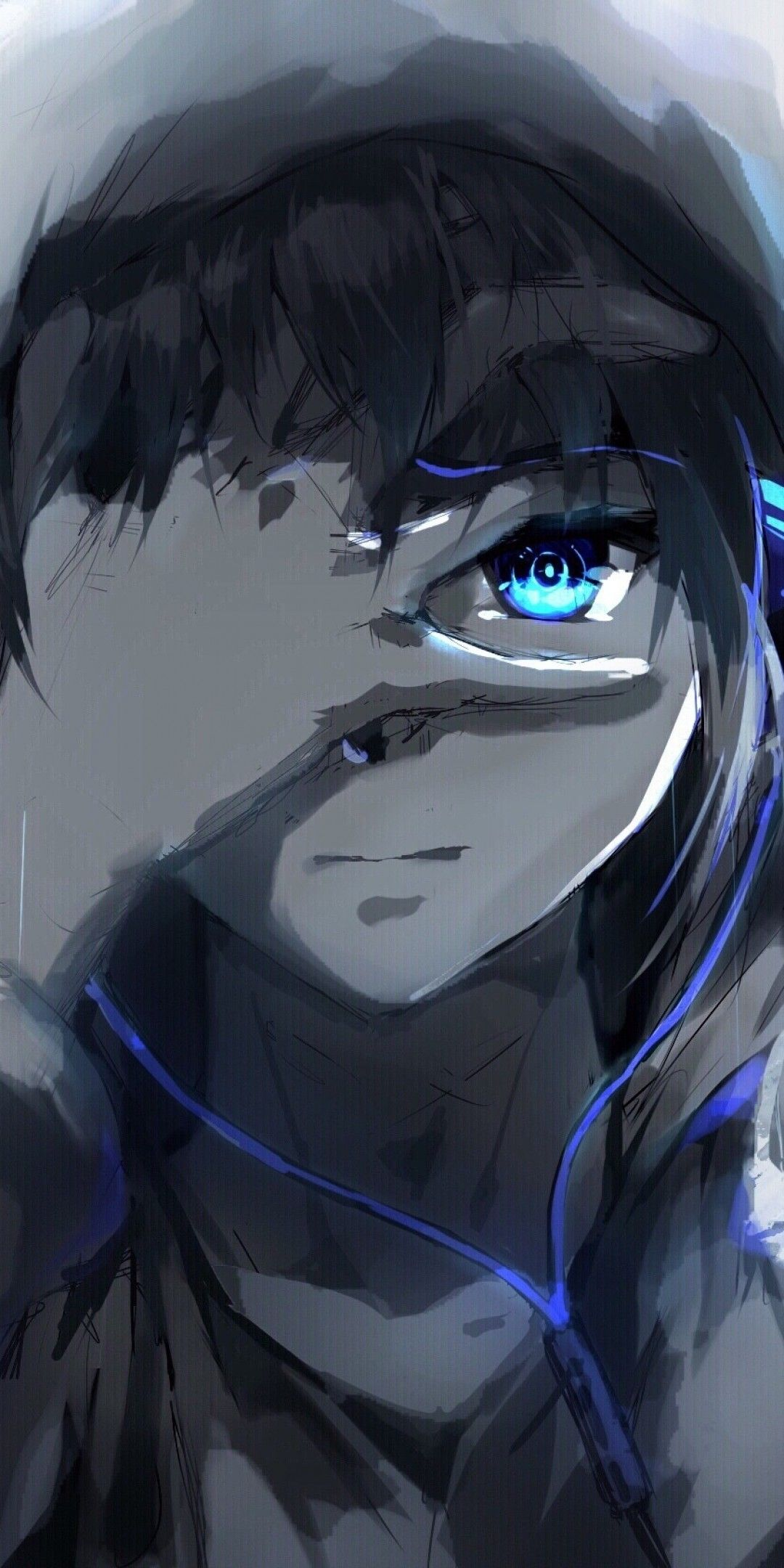Hooded Sad Anime Boy Wallpapers - Wallpaper Cave