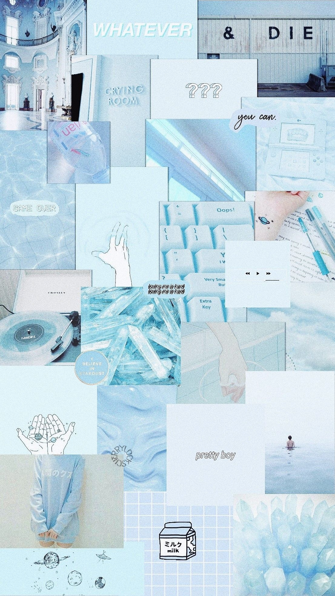 Desktop Pastel Blue Aesthetic Wallpaper
