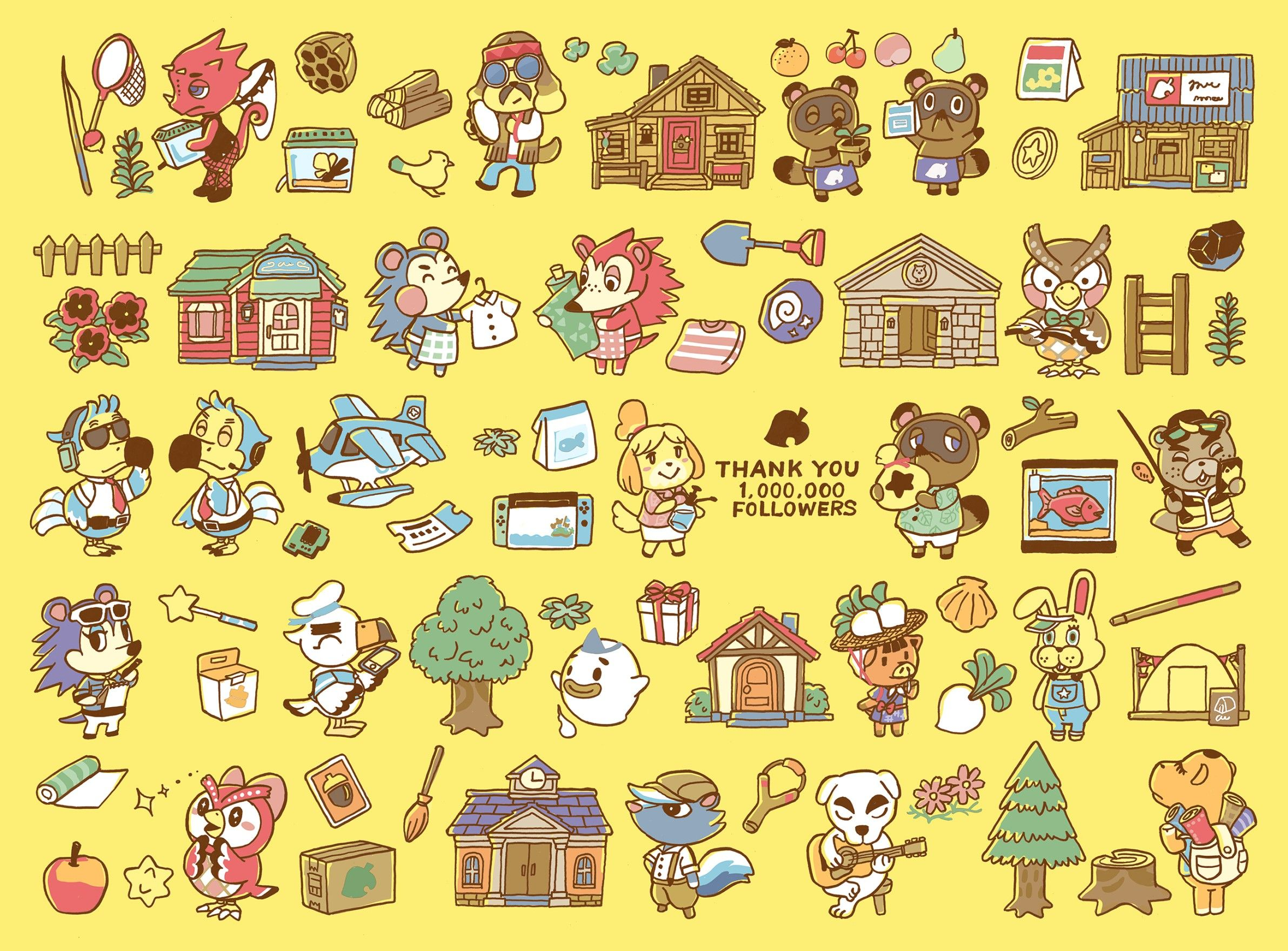 Kawaii Animal Crossing Wallpapers - Wallpaper Cave