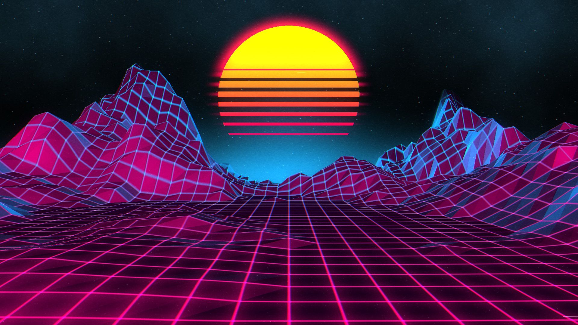 Neon Retro Sunset Wallpapers ...