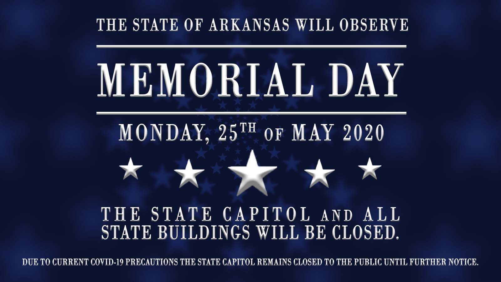 Official State Holiday Bulletin: Memorial Day