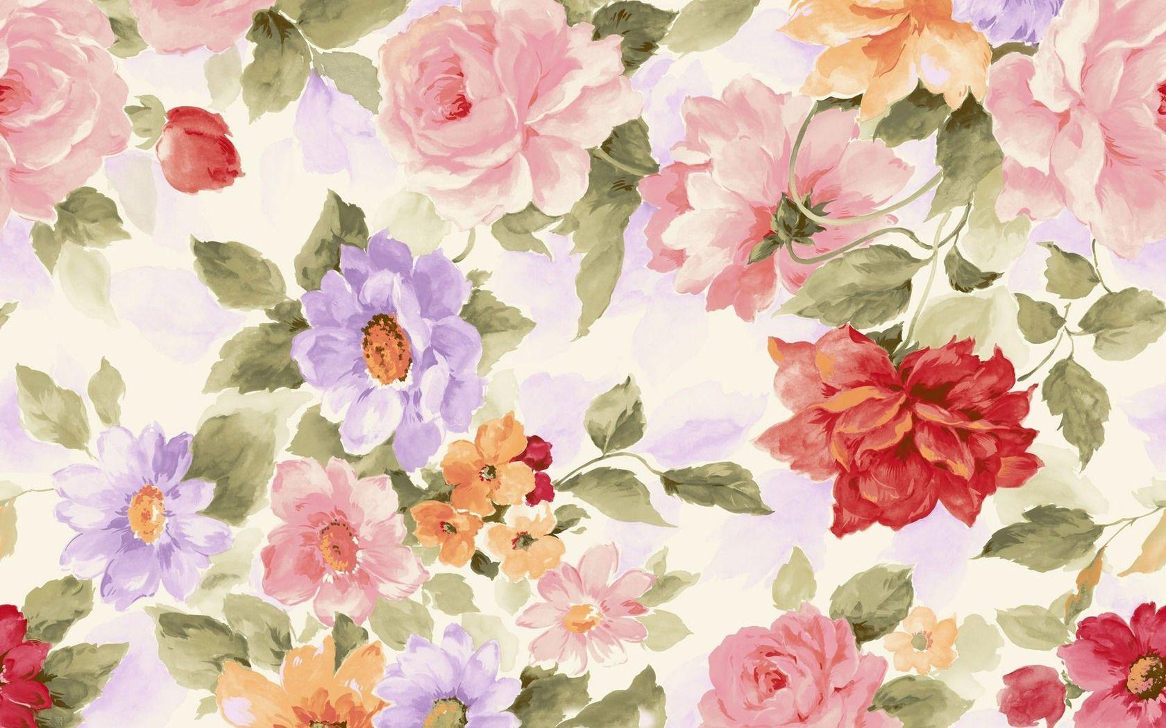 Desktop Flower Painting Wallpapers Wallpaper Cave