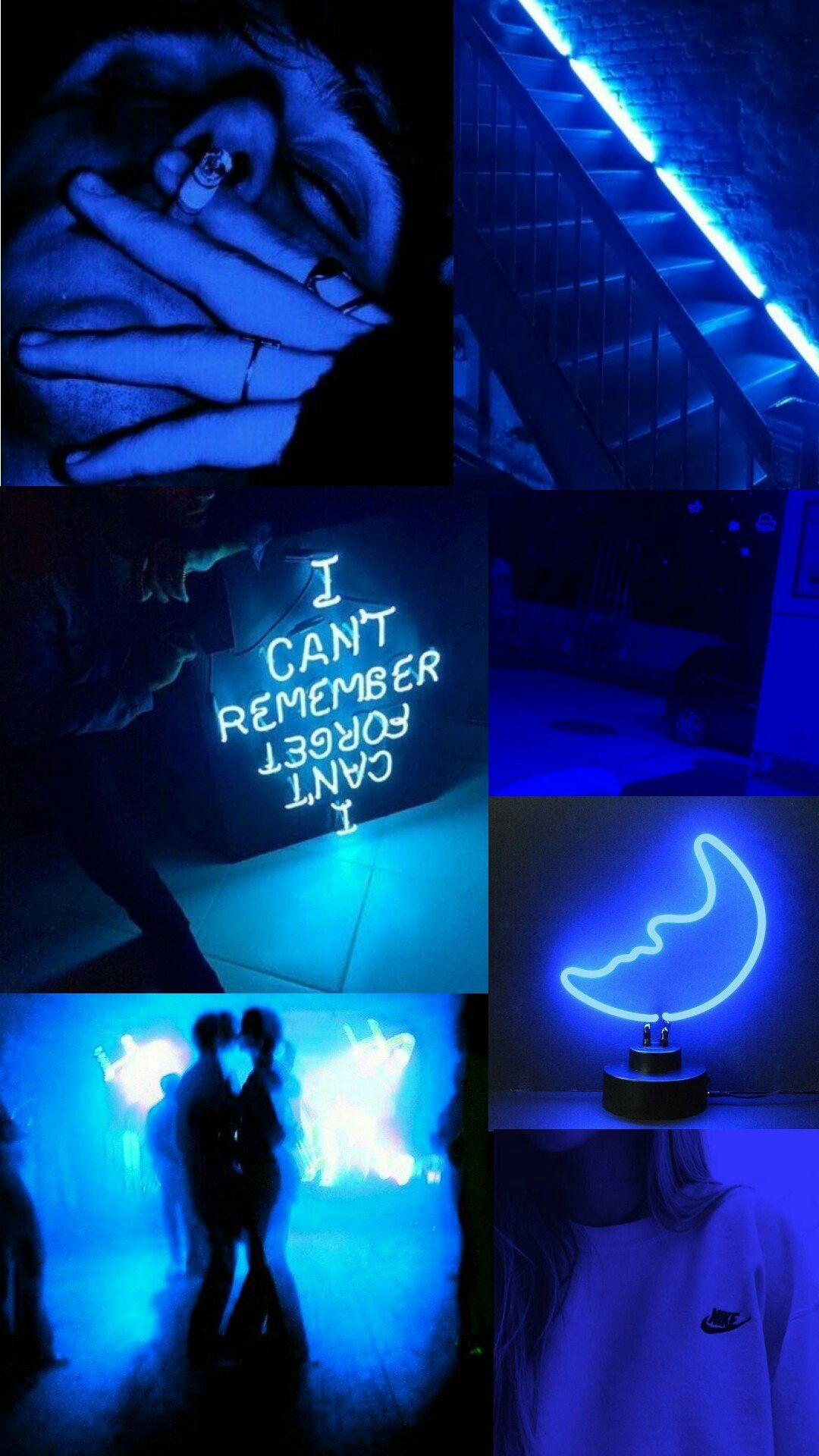 Aesthetic Neon Blue Wallpapers - Wallpaper Cave