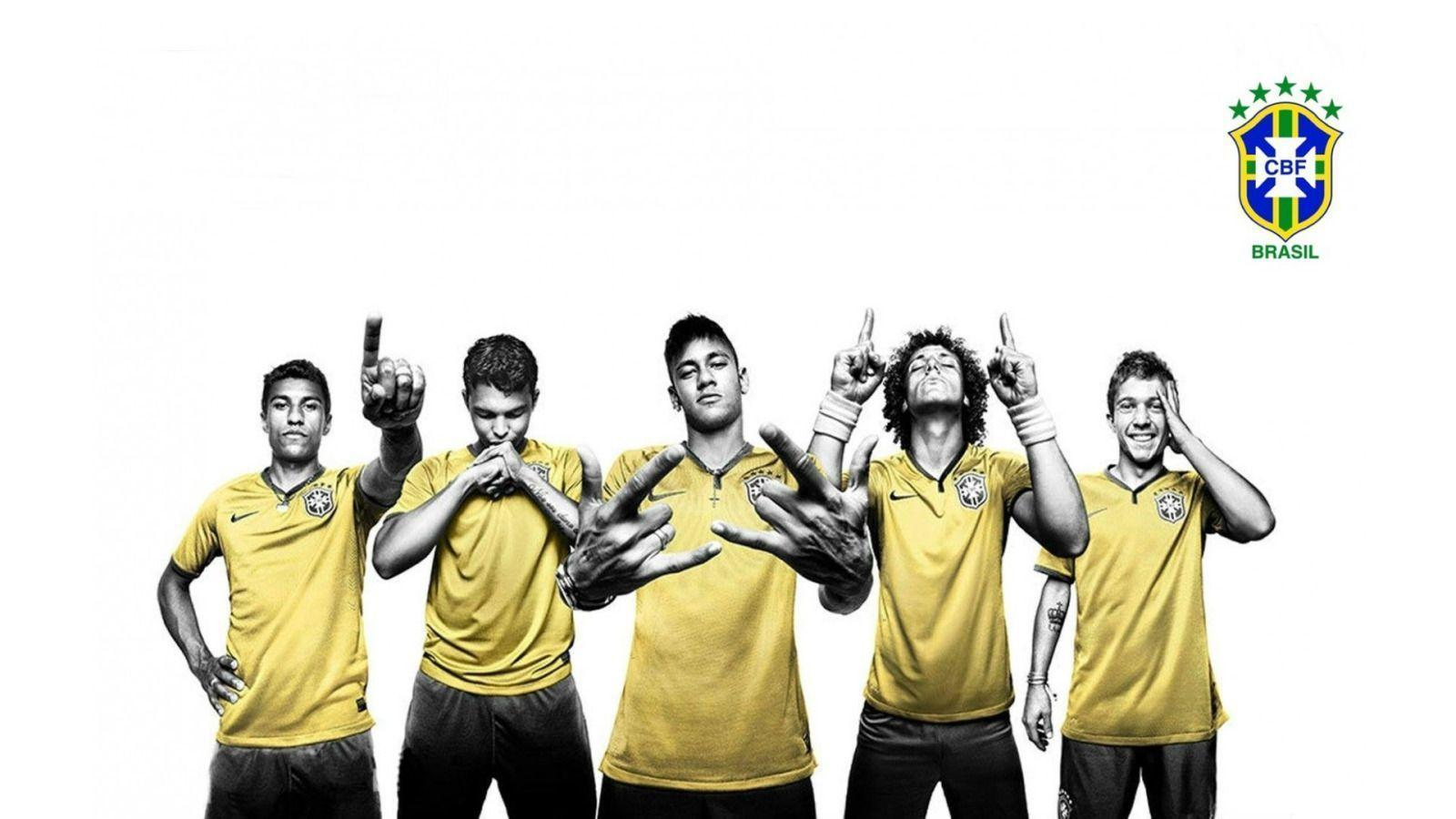 CBF, Brazil Soccer Players widescreen wallpaper | Wide-Wallpapers.NET