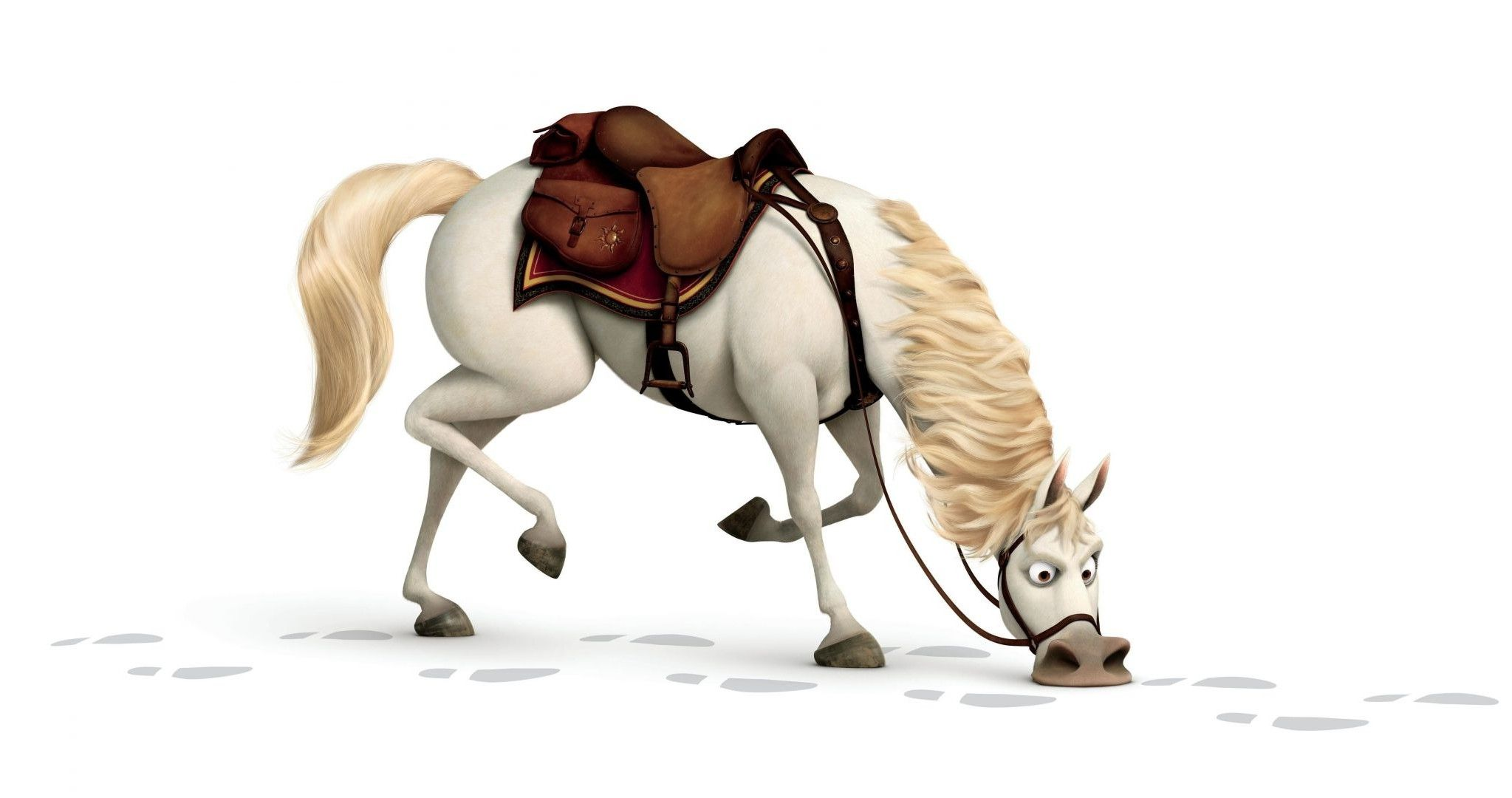 The horse from the cartoon Tangled.