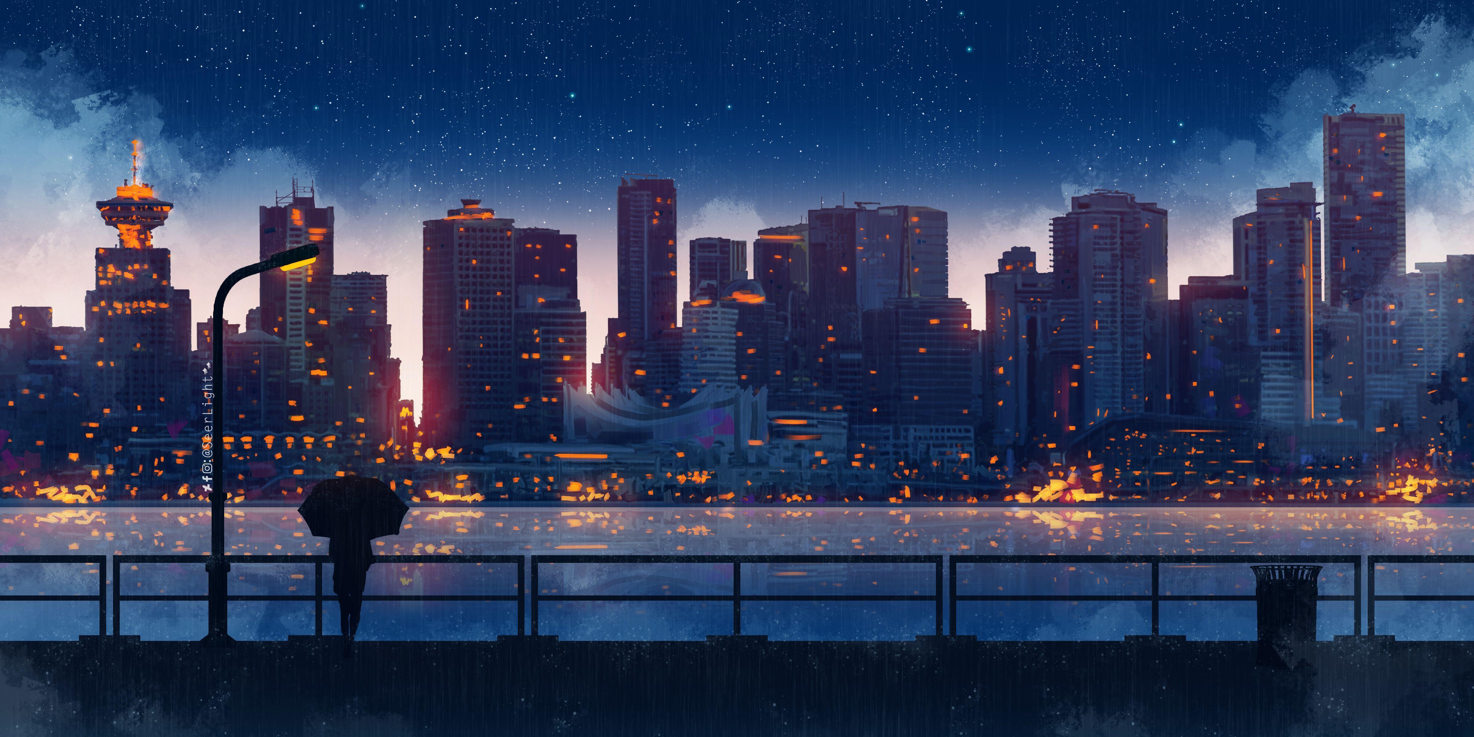 Aesthetic Rain Anime Desktop Wallpapers Wallpaper Cave