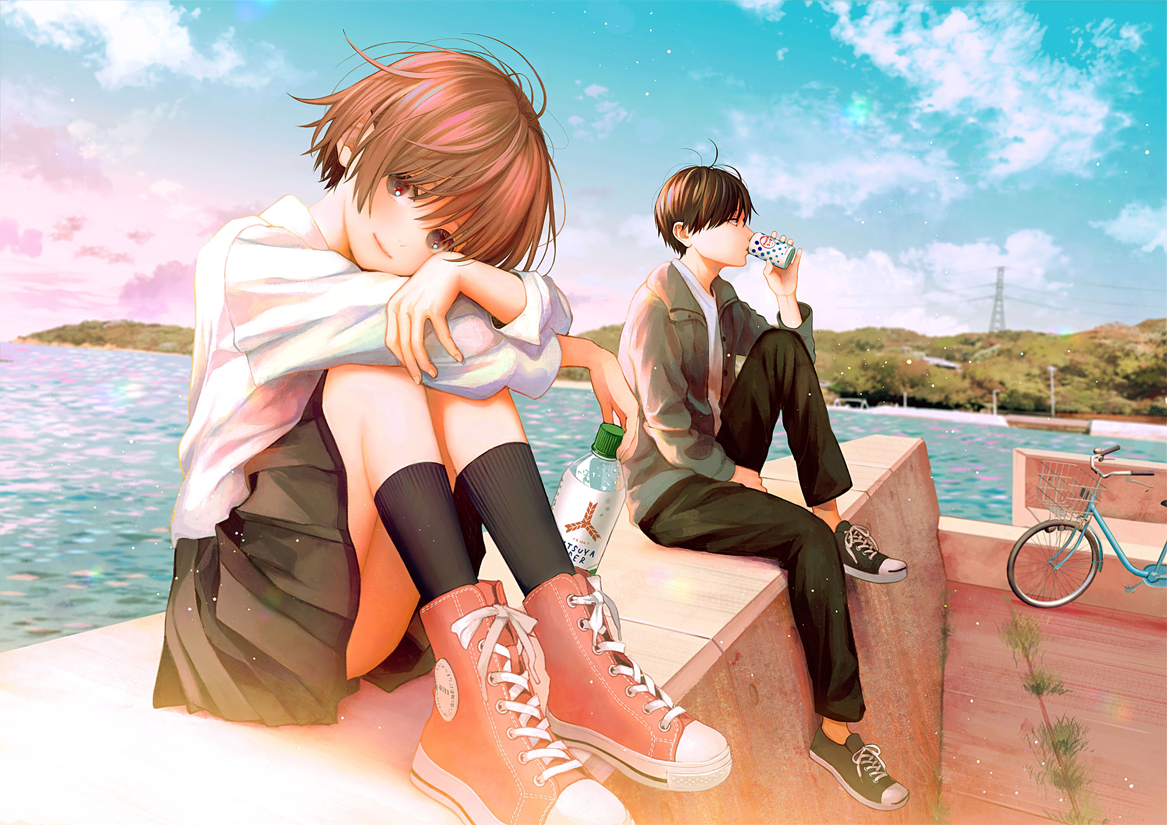 Anime Couple School Wallpapers - Wallpaper Cave