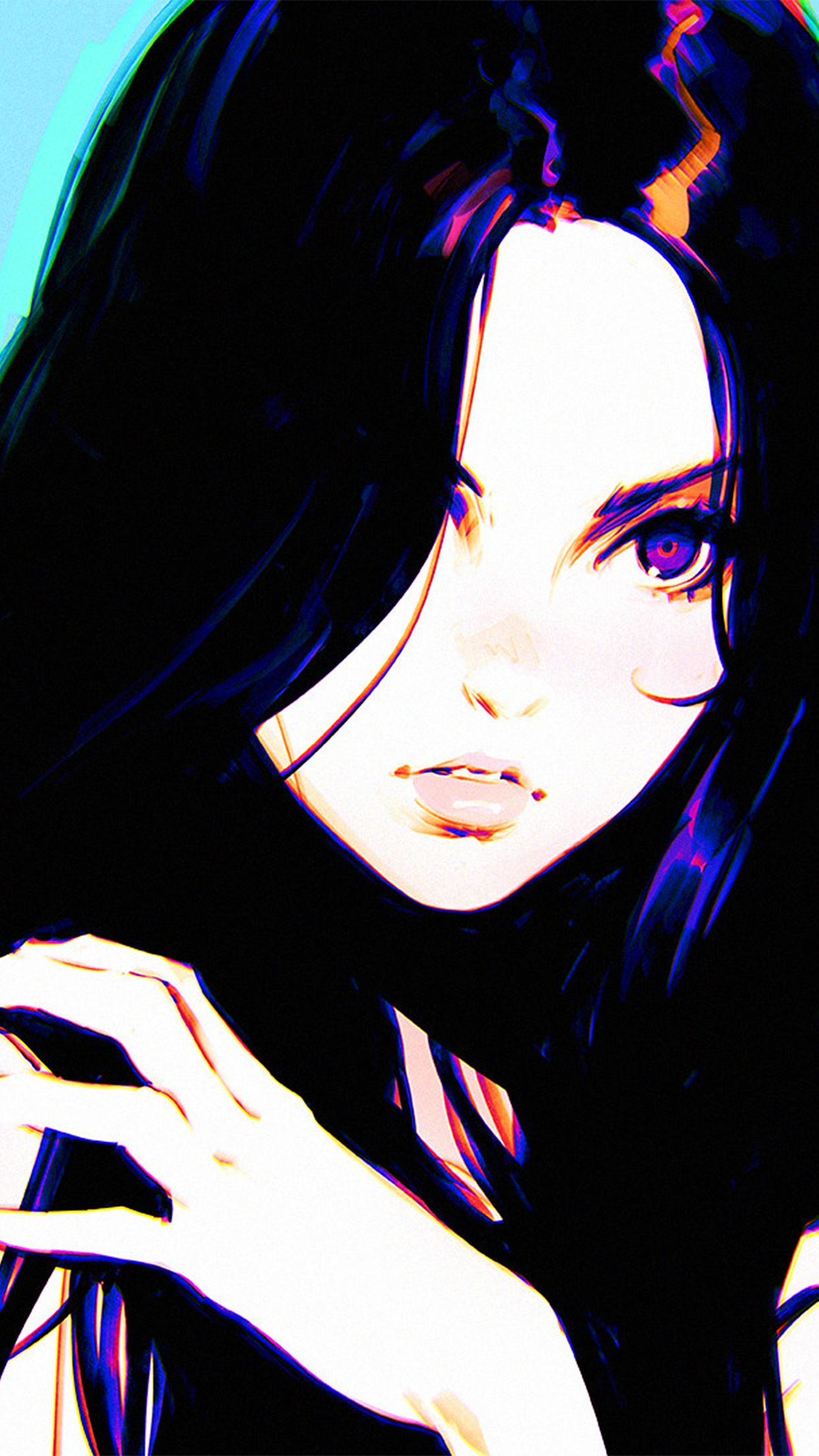 Anime Black Hair Girl Wallpapers - Wallpaper Cave