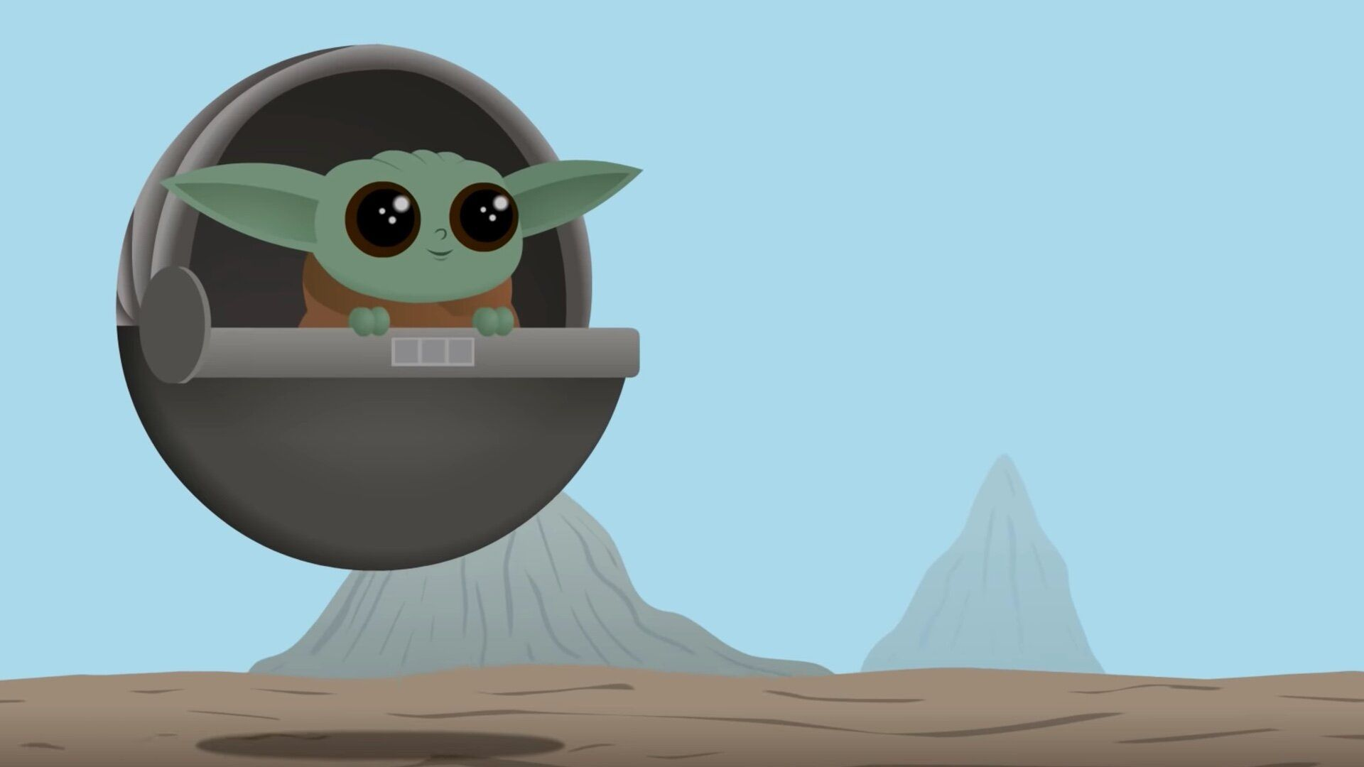 Baby Yoda Minimalist 1920x1080 Wallpapers - Wallpaper Cave