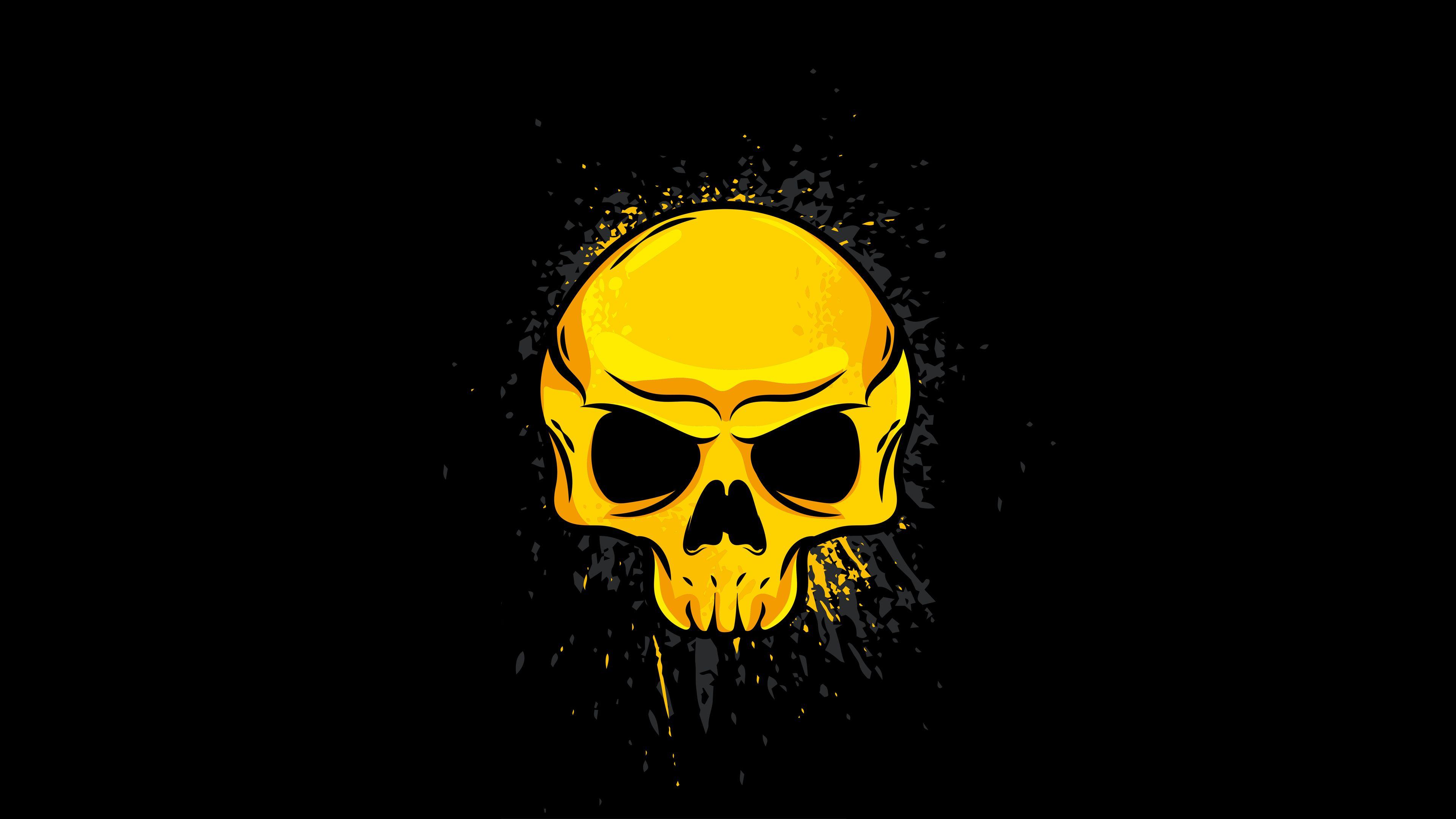 Golden Skull Wallpapers Wallpaper Cave