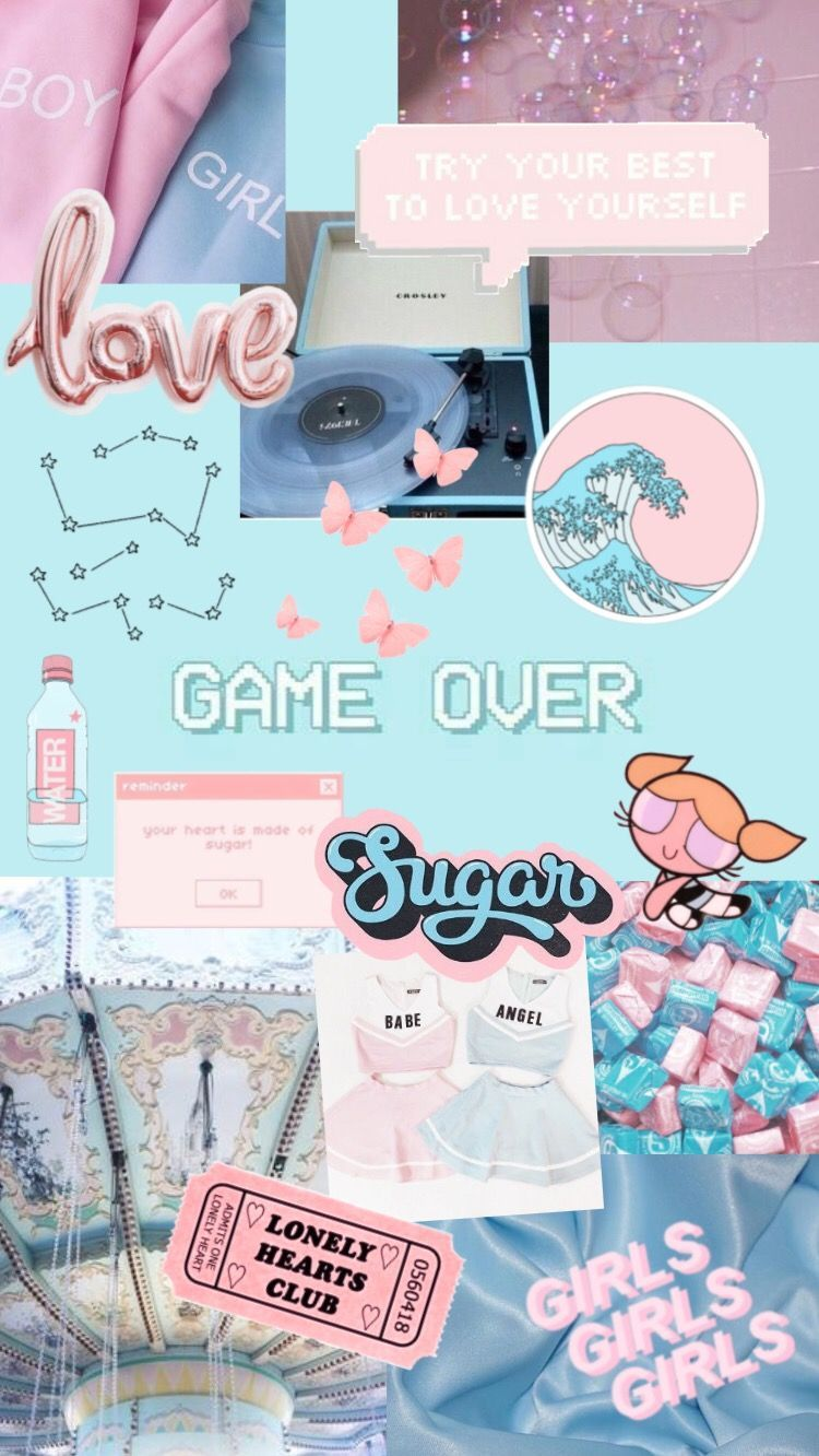 Gaming Aesthetic Pink And Blue Wallpapers Wallpaper Cave