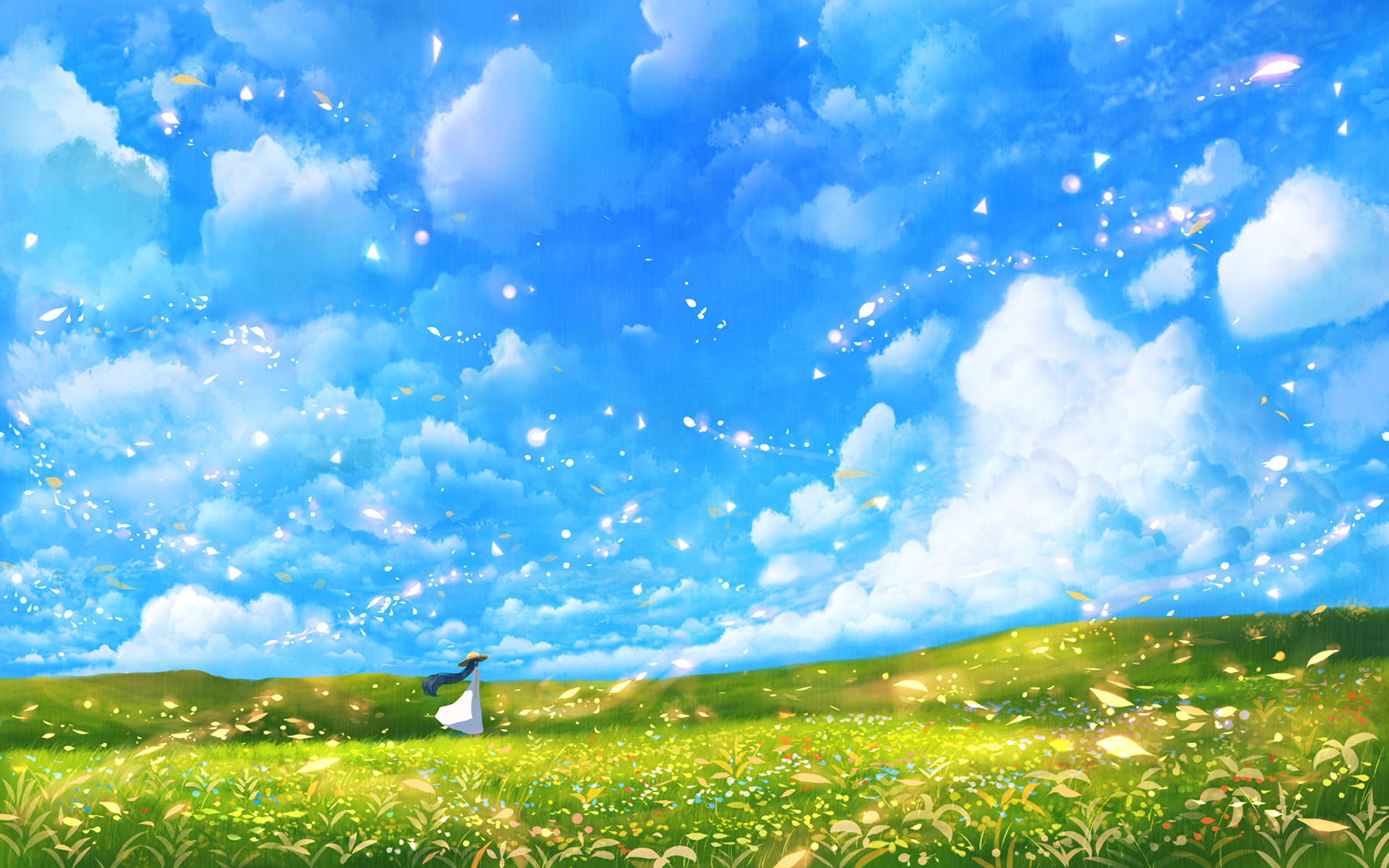Anime Summer Beautiful Landscape Wallpapers - Wallpaper Cave