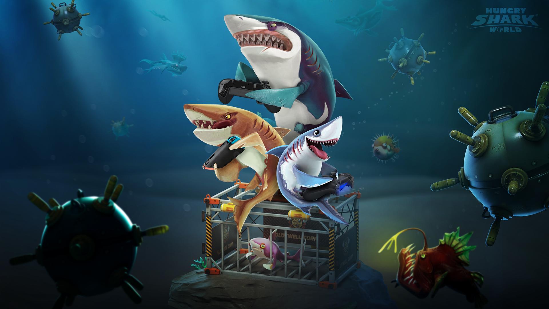 картинки всех акул из игры акула новых