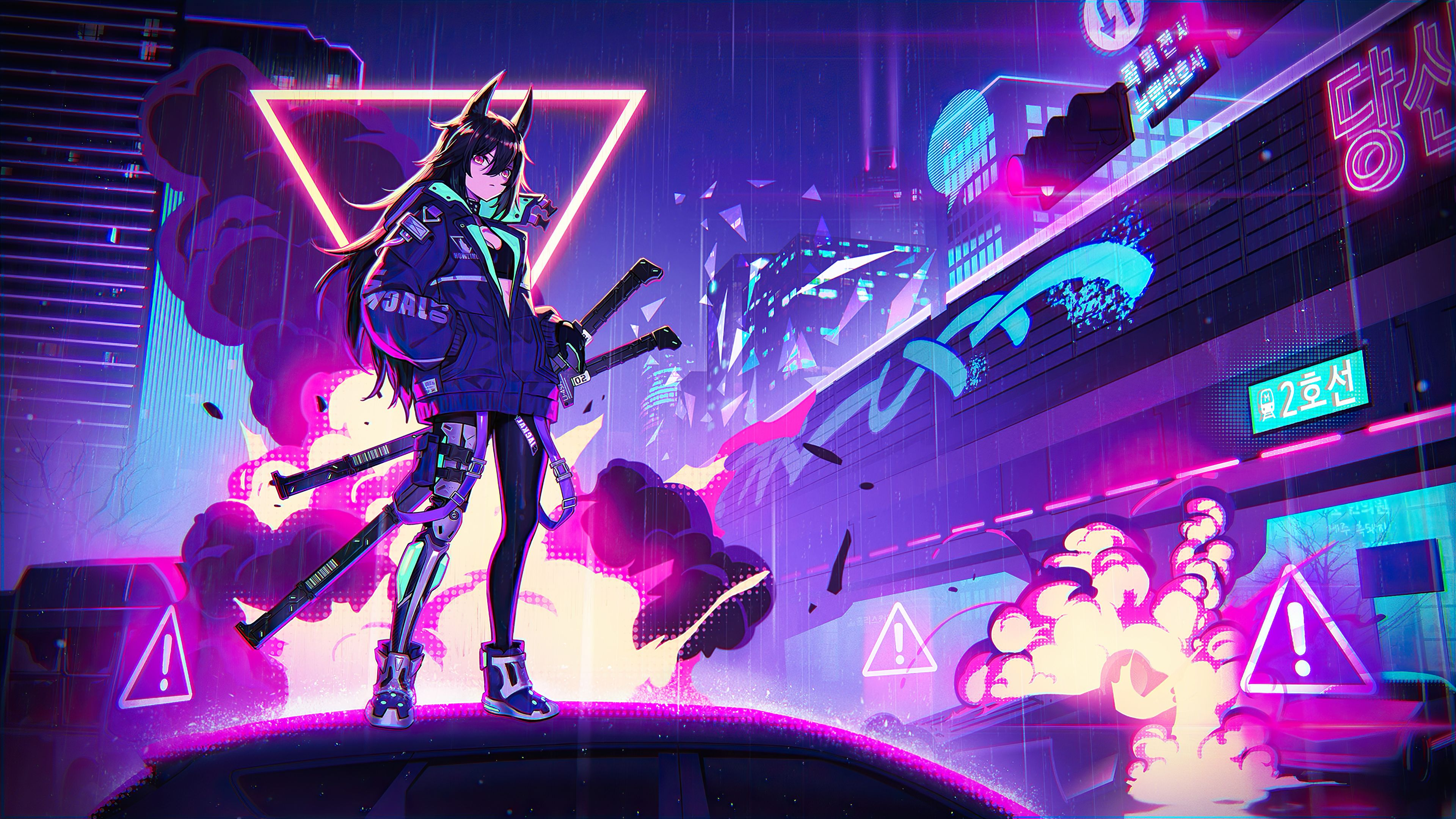 Neon Anime Wallpapers - Wallpaper Cave