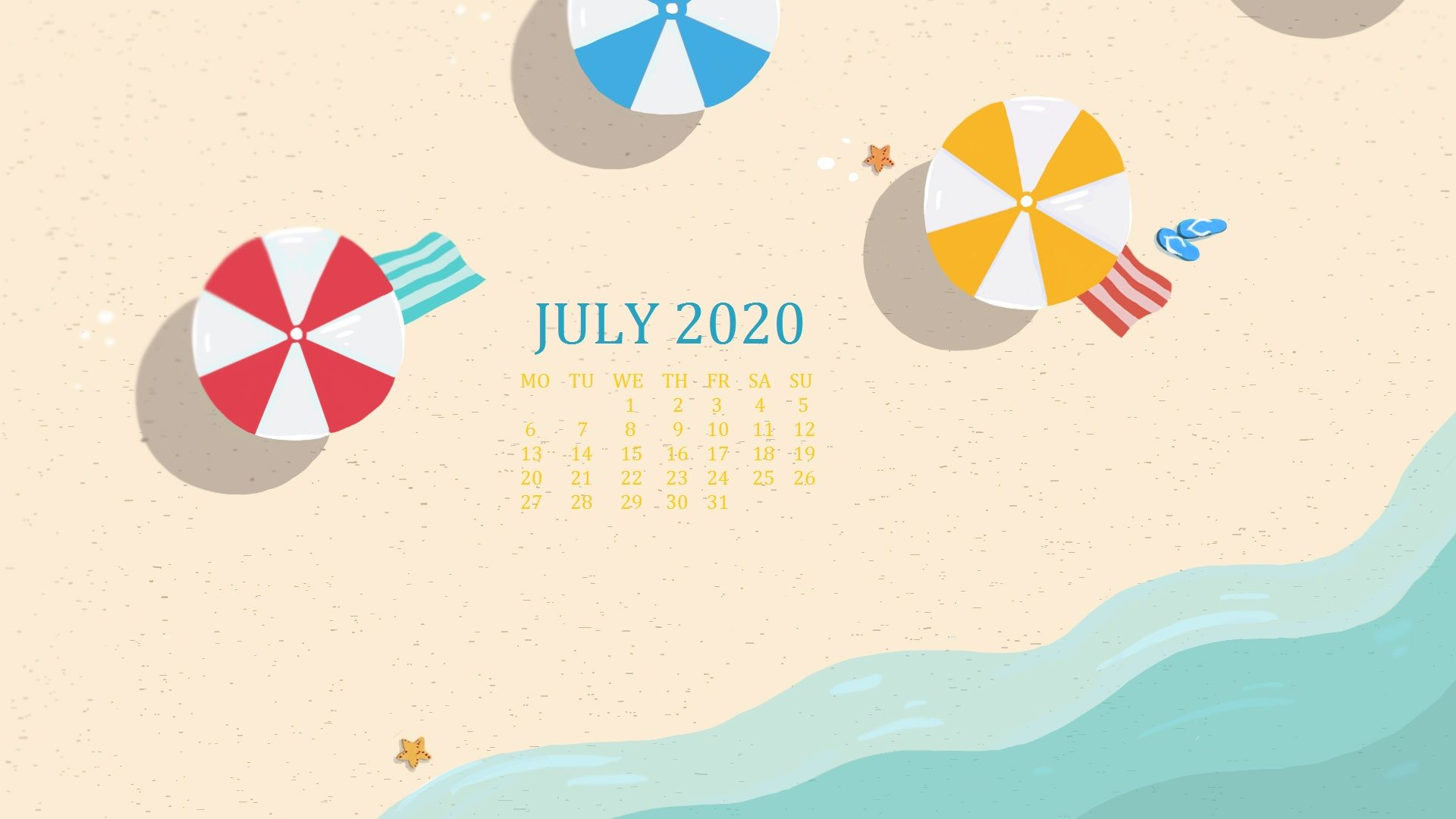 July 2020 Calendar Wallpapers Wallpaper Cave